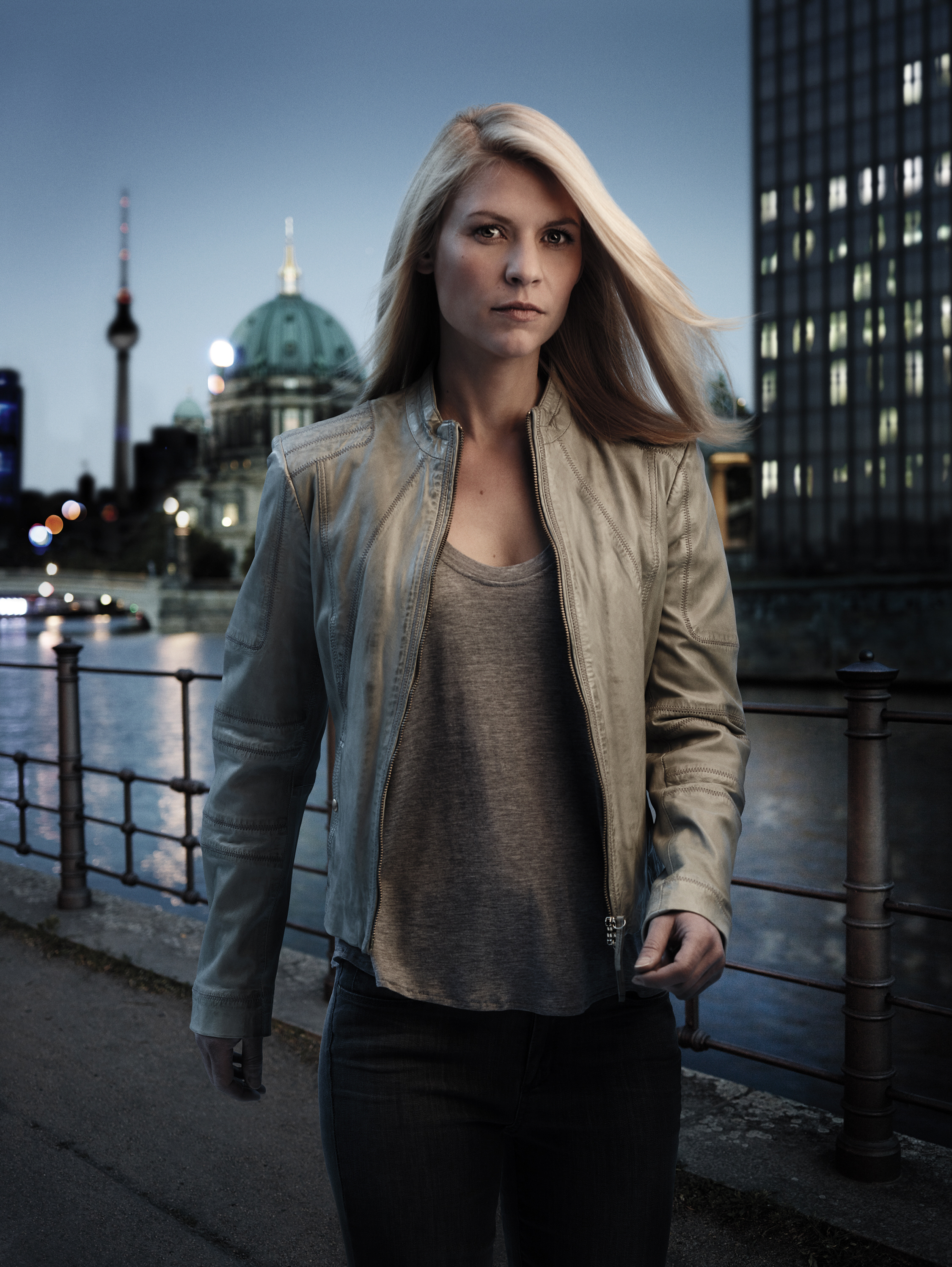 "Claire Danes appears in a promotional photo for Season 5 of Showtime's ""Homeland,"" which debuted in 2015."