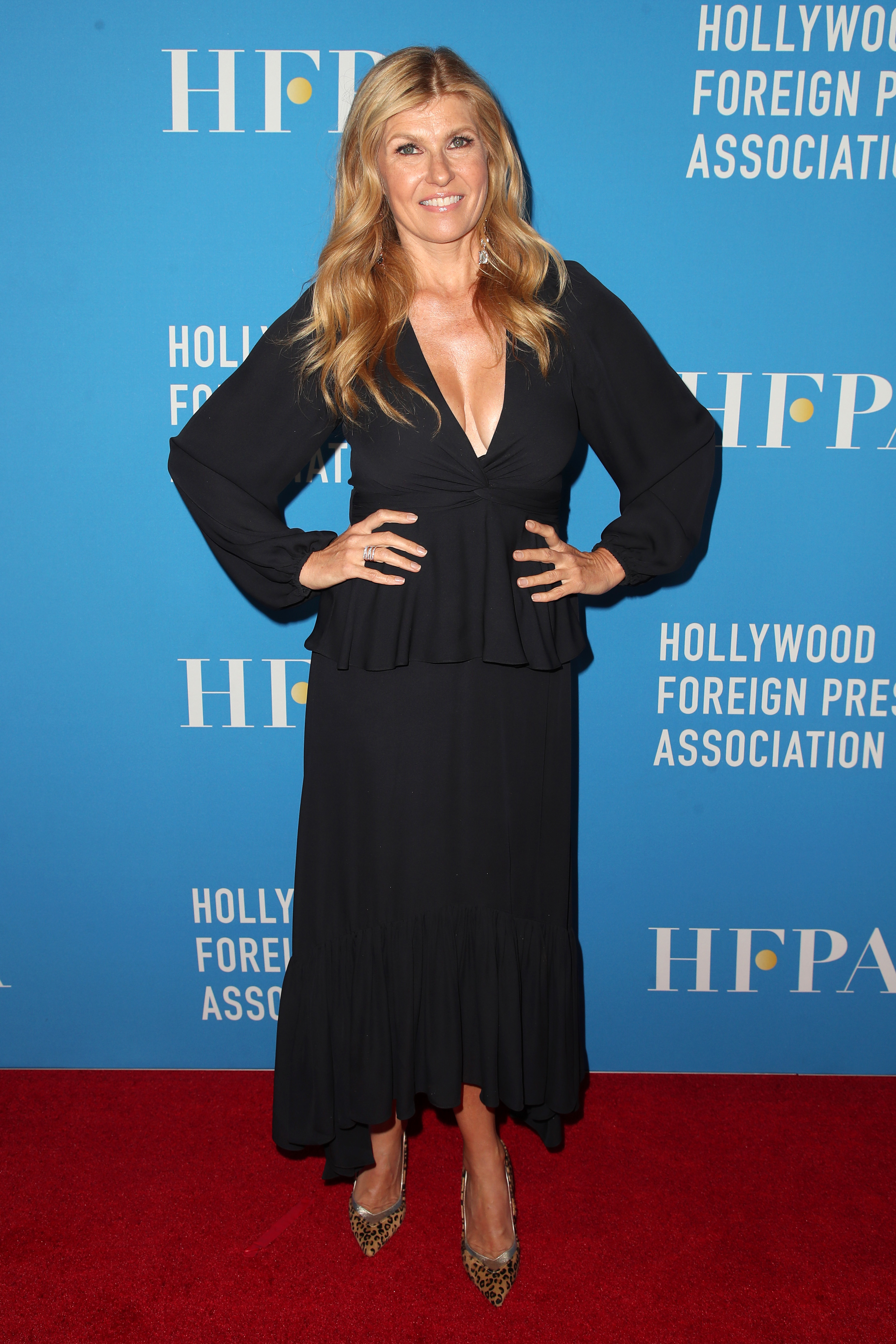Connie Britton attends the Hollywood Foreign Press Association's Annual Grants Banquet in Los Angeles on Aug. 9, 2018.