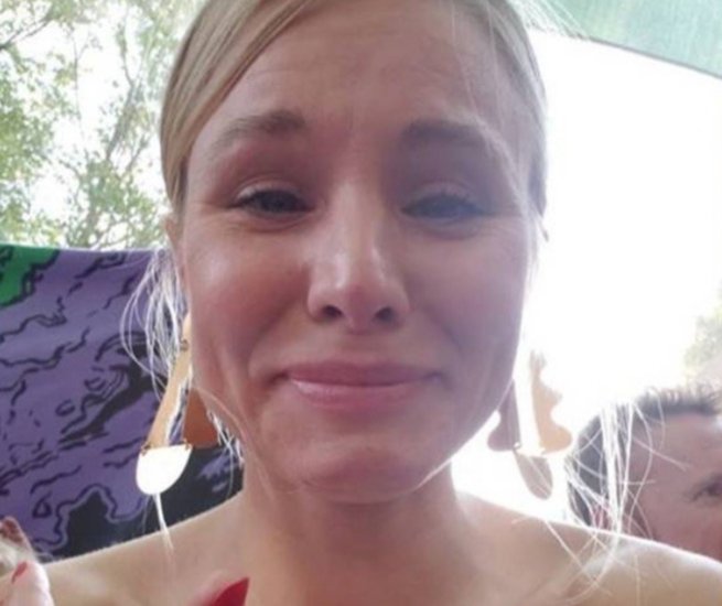 Kristen Bell shares an Instagram Story of her emotional face during her daughter's preschool graduation in August 2018.