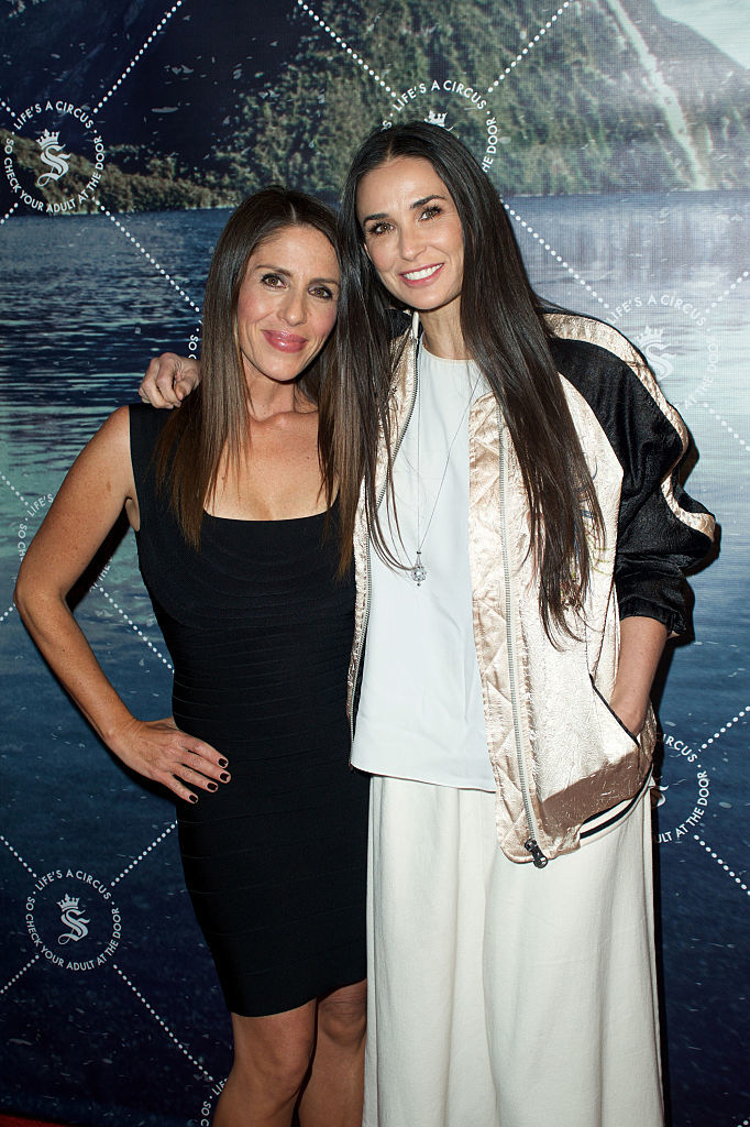 Company partner Soleil Moon Frye and actress Demi Moore attend the unveiling of Seedling's Arts District headquarters in Los Angeles on May 28, 2015.