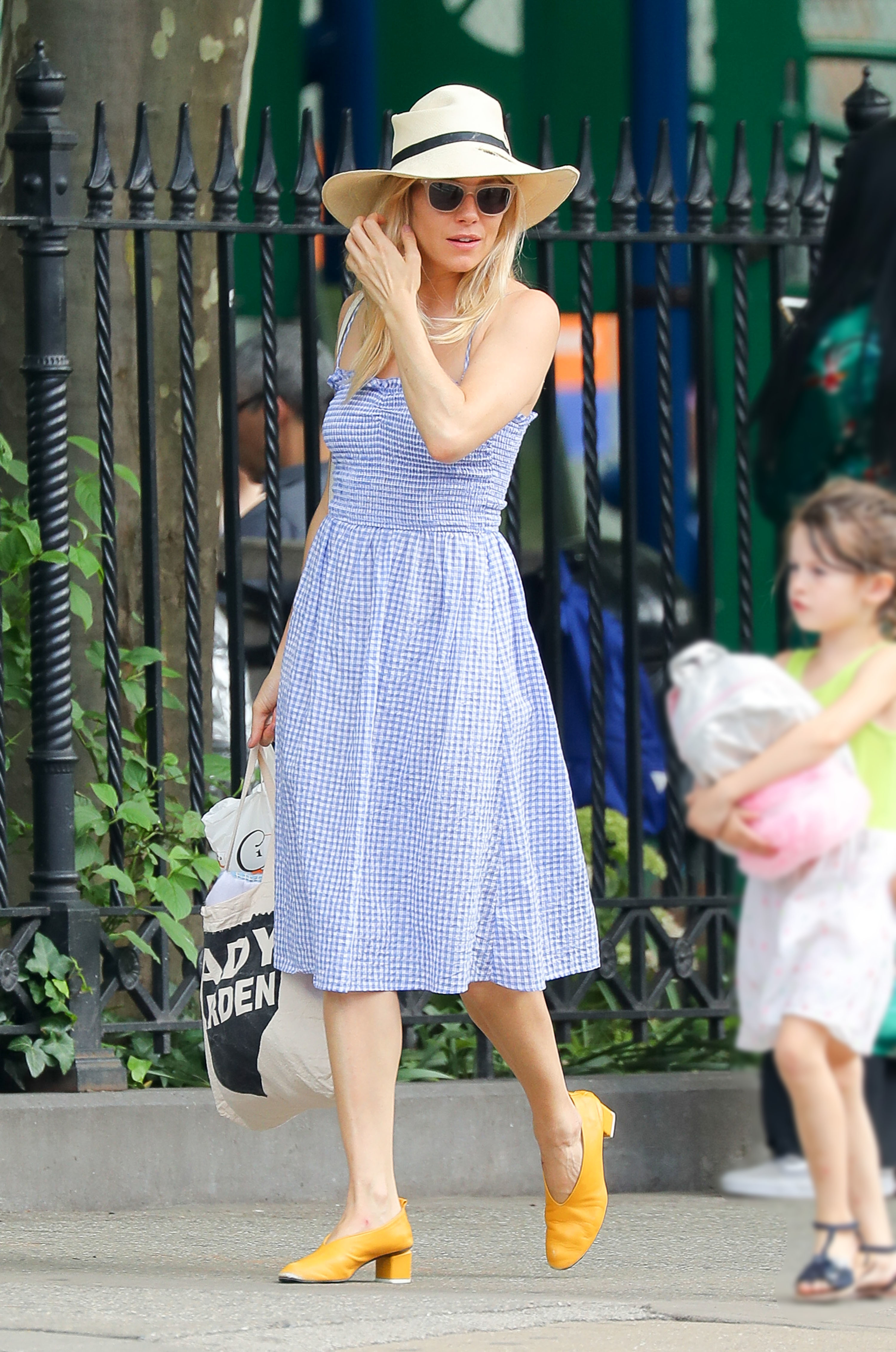 Sienna Miller looks stylish while out and about in New York City on June 8, 2018.