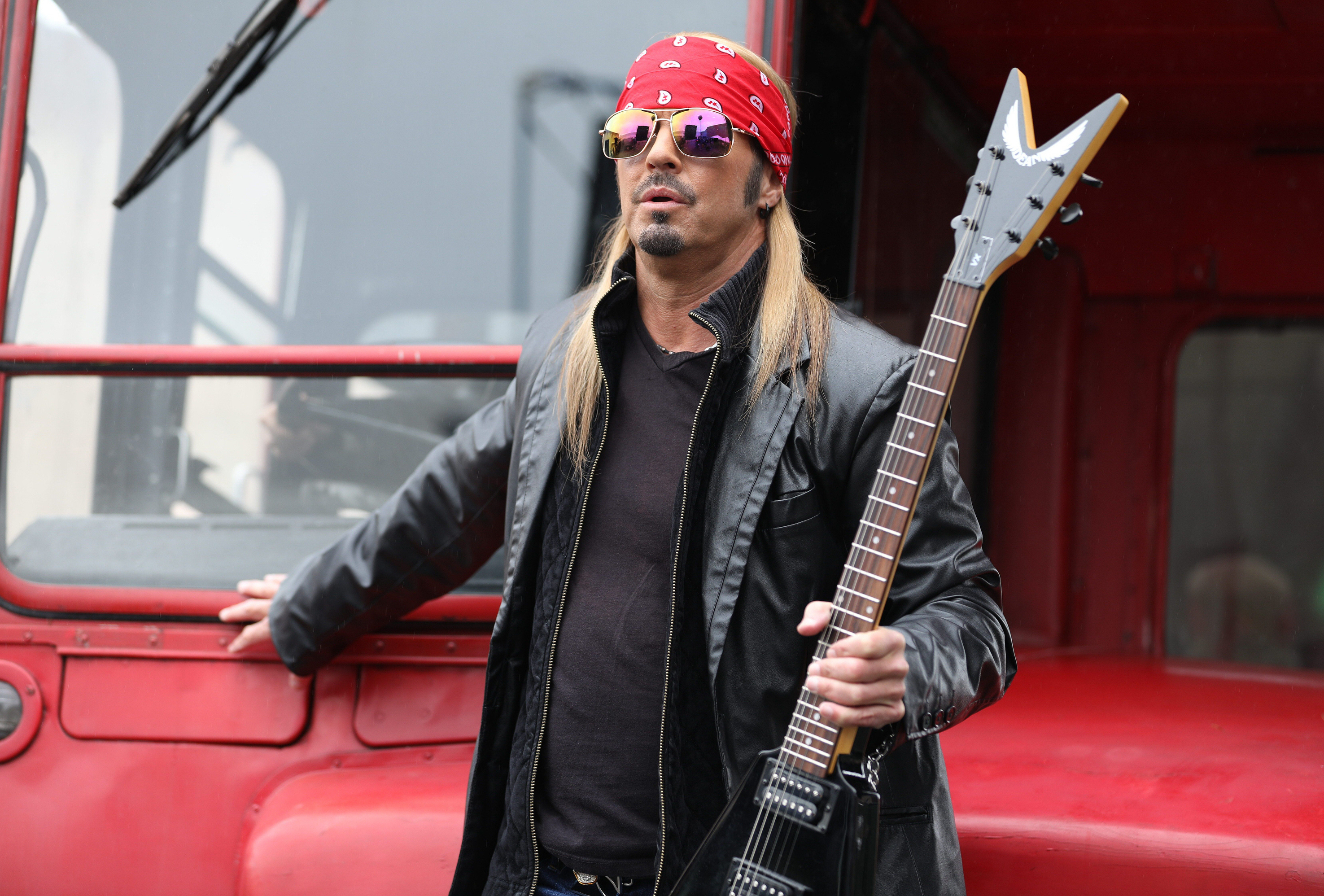 "Bret Michaels stars in 2017's ""Sharknado 5: Global Swarming."""