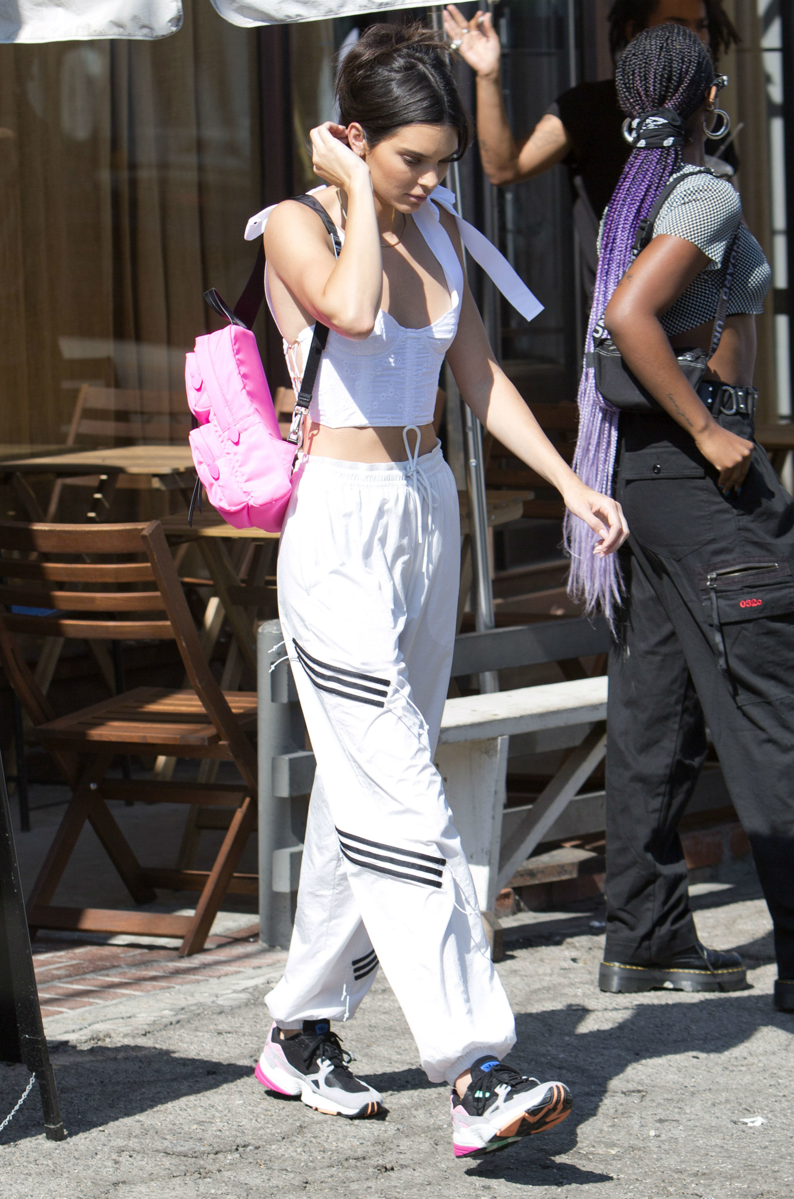 Kendall Jenner leaves a restaurant in the West Hollywood area of Los Angeles, Calif., on July 30, 2018.