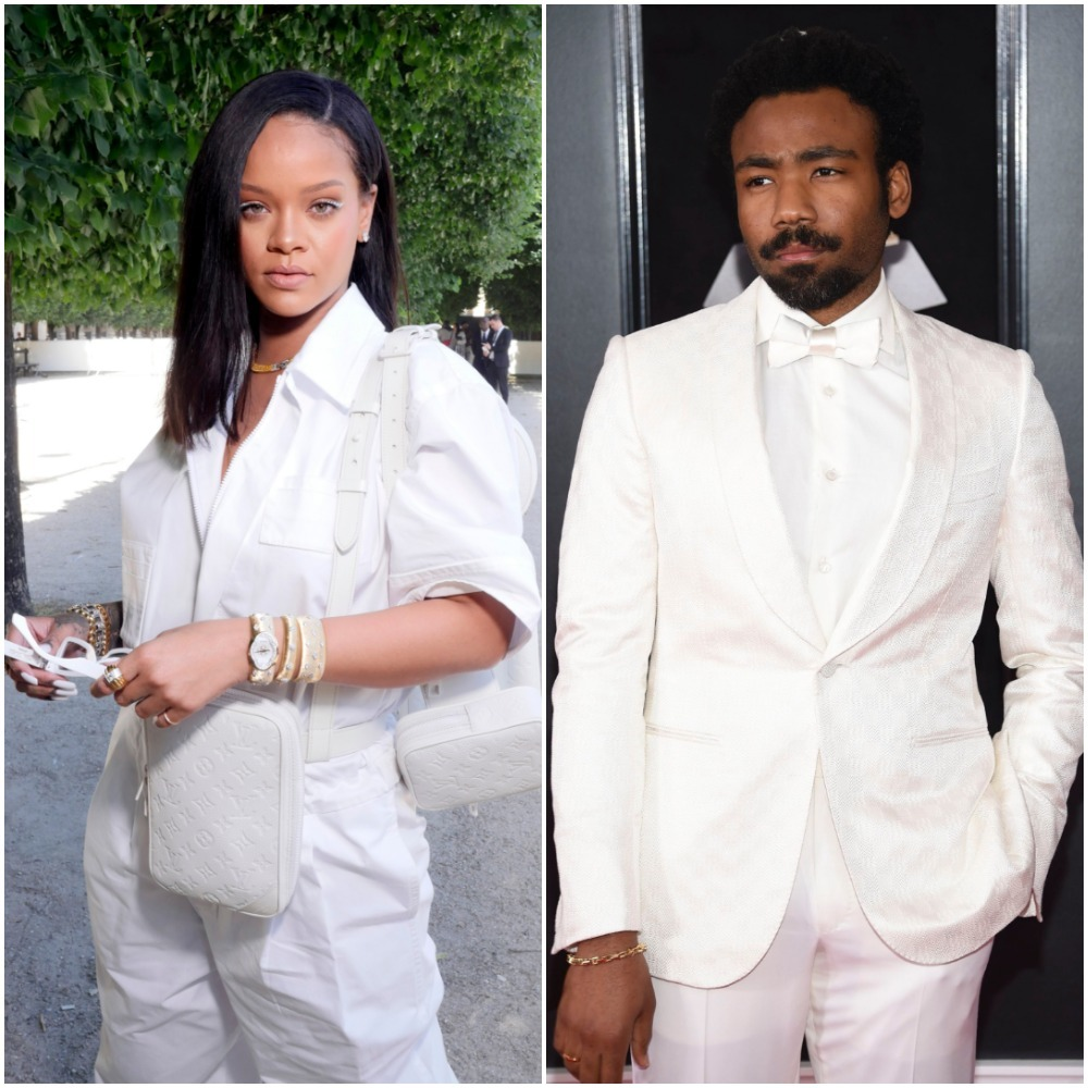 Rihanna and Donald Glover appear in a composite image from 2018.