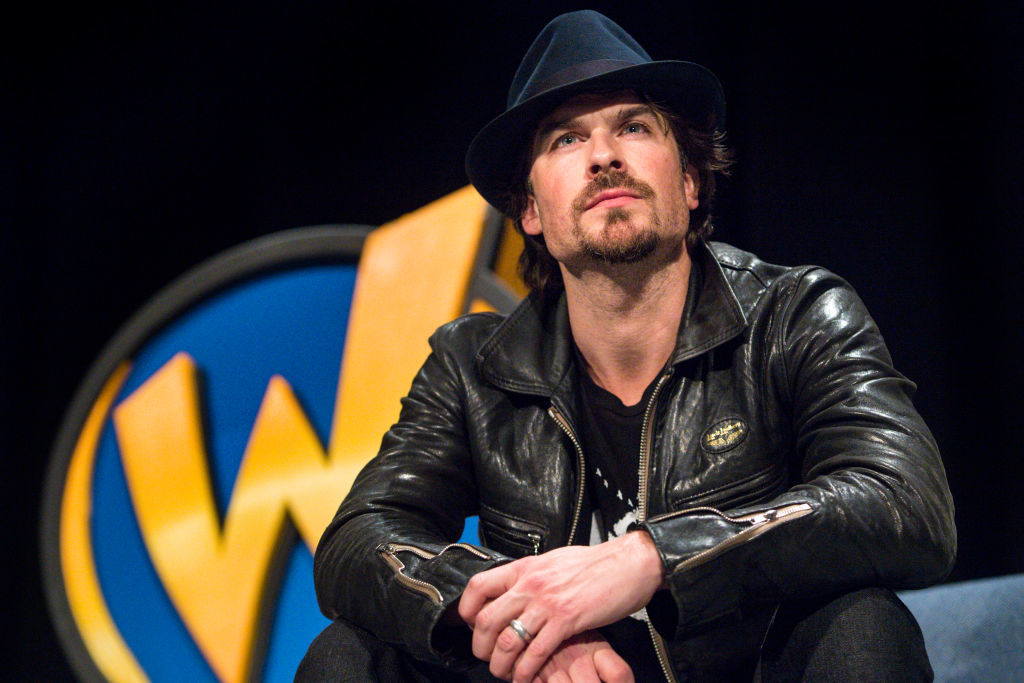 Ian Somerhalder participates in a Q&A during Wizard World Comic Con at Ernest N. Morial Convention Center in New Orleans, Louisiana on Jan. 6, 2018.