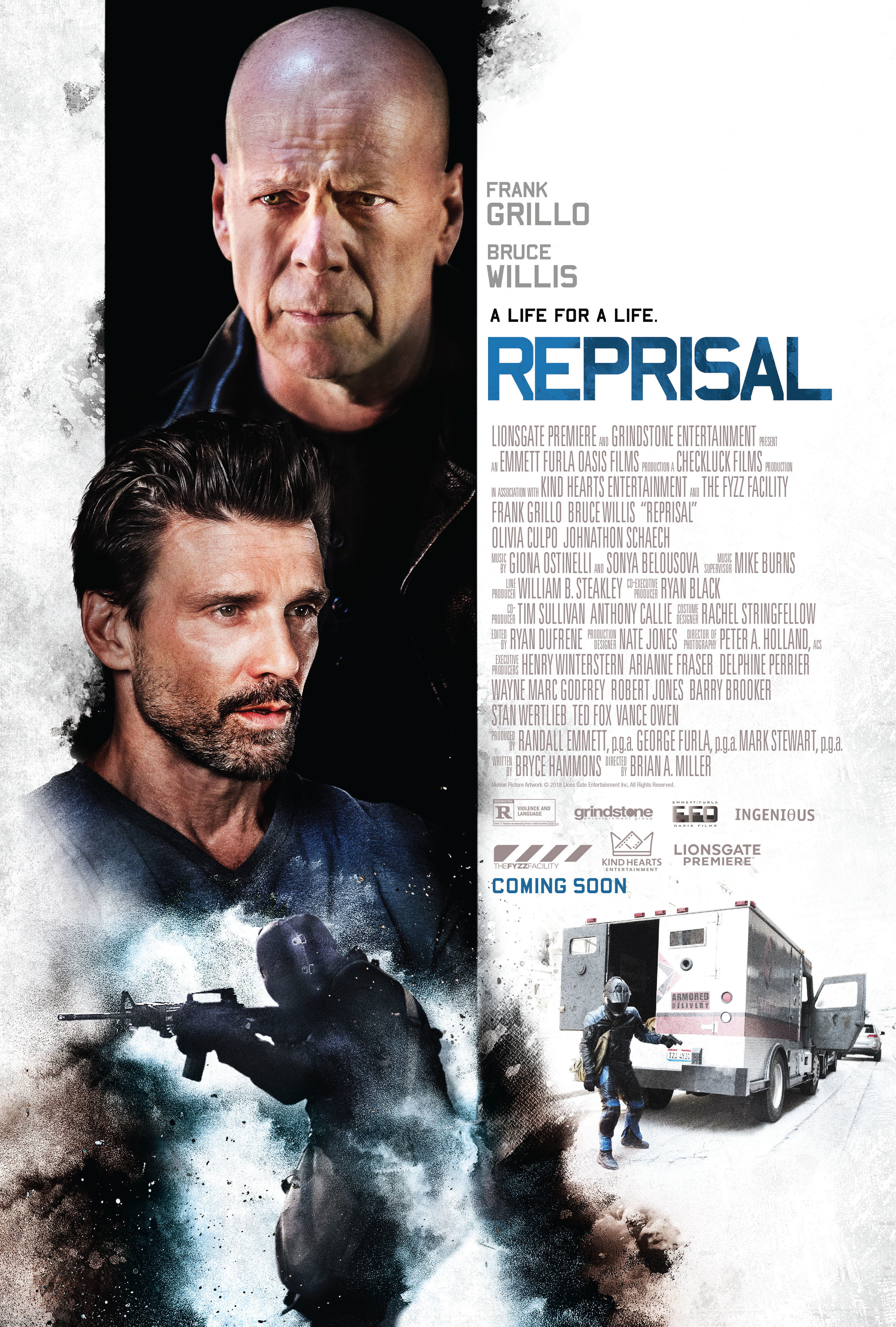 """Poster for the 2018 film """"Reprisal."""""""