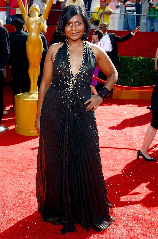 Mindy Kaling arrives at the 60th Primetime Emmy Awards in Los Angeles on Sept. 21, 2008.