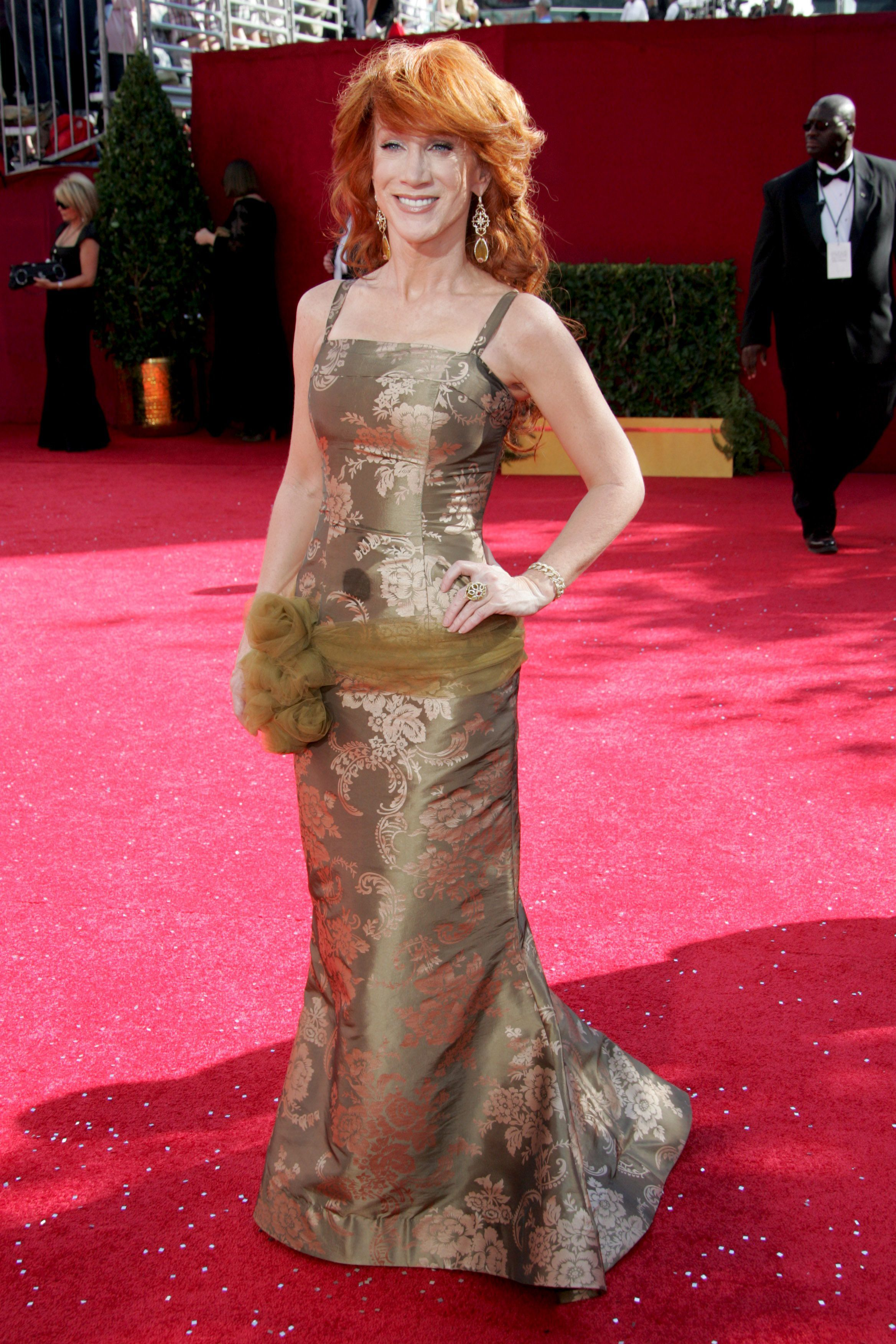 Kathy Griffin arrives at the 60th Primetime Emmy Awards in Los Angeles on Sept. 21, 2008.