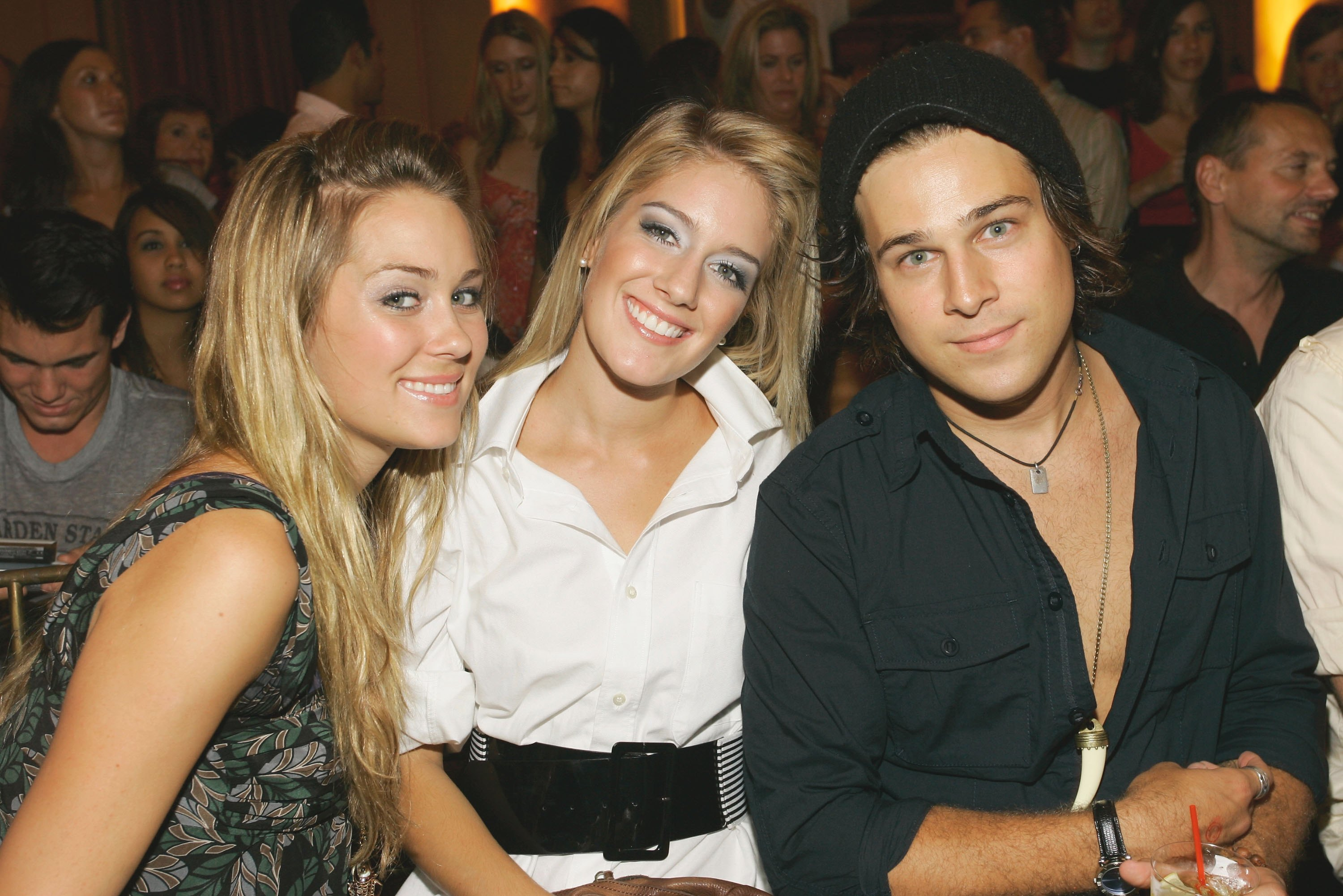 Lauren Conrad, Heidi Montag and Ryan Cabrera backstage at the Yellow Fever & Clandestine Industries Spring 2007 fashion show in New York City on Sept. 9, 2006.