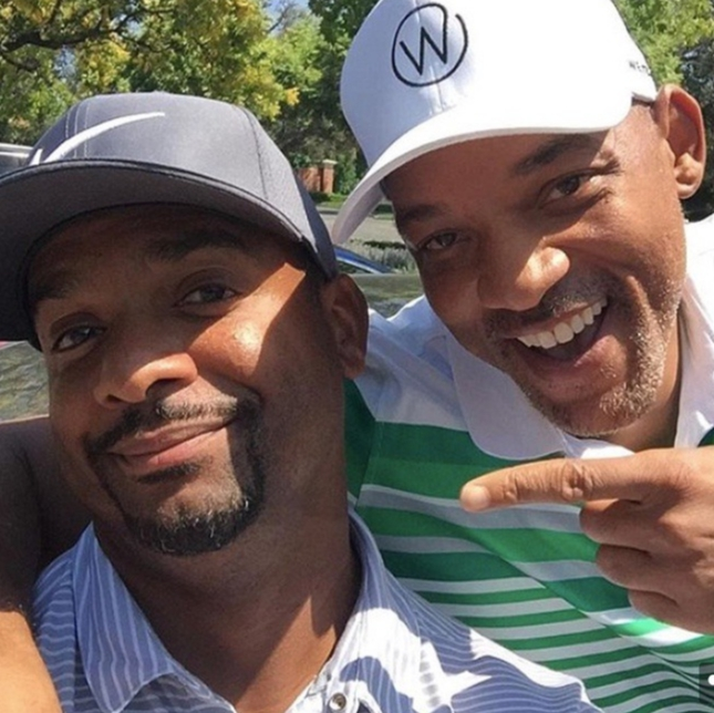 """""""One of my favorite people on this Whole Damn Rock!! @therealalfonsoribeiro""""   Will Smith, who posted this on Instagram on Sept. 4, 2018"""