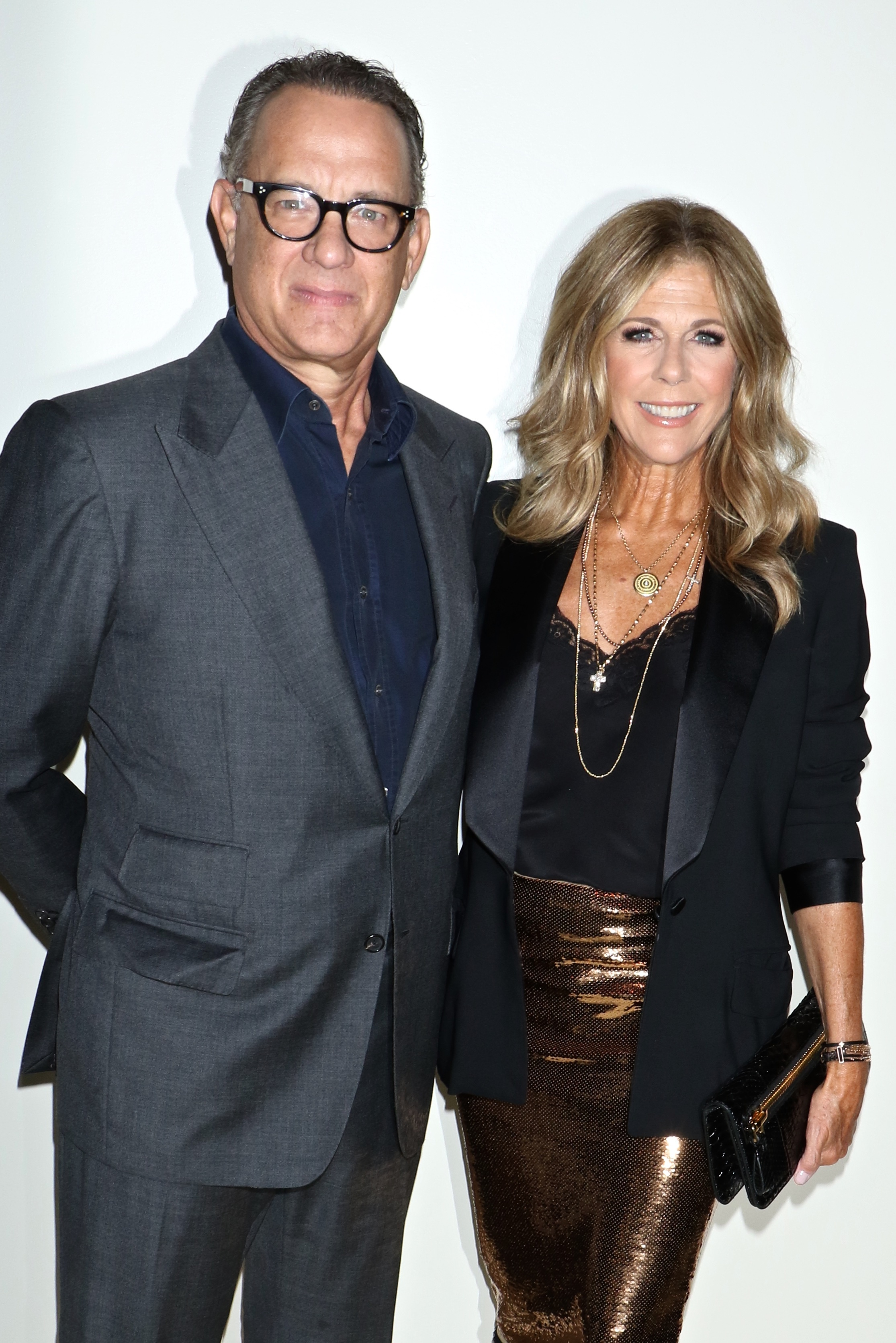 Tom Hanks and Rita Wilson attend the Tom Ford show for Spring/Summer 2019 at New York Fashion Week on Sept. 5, 2018.