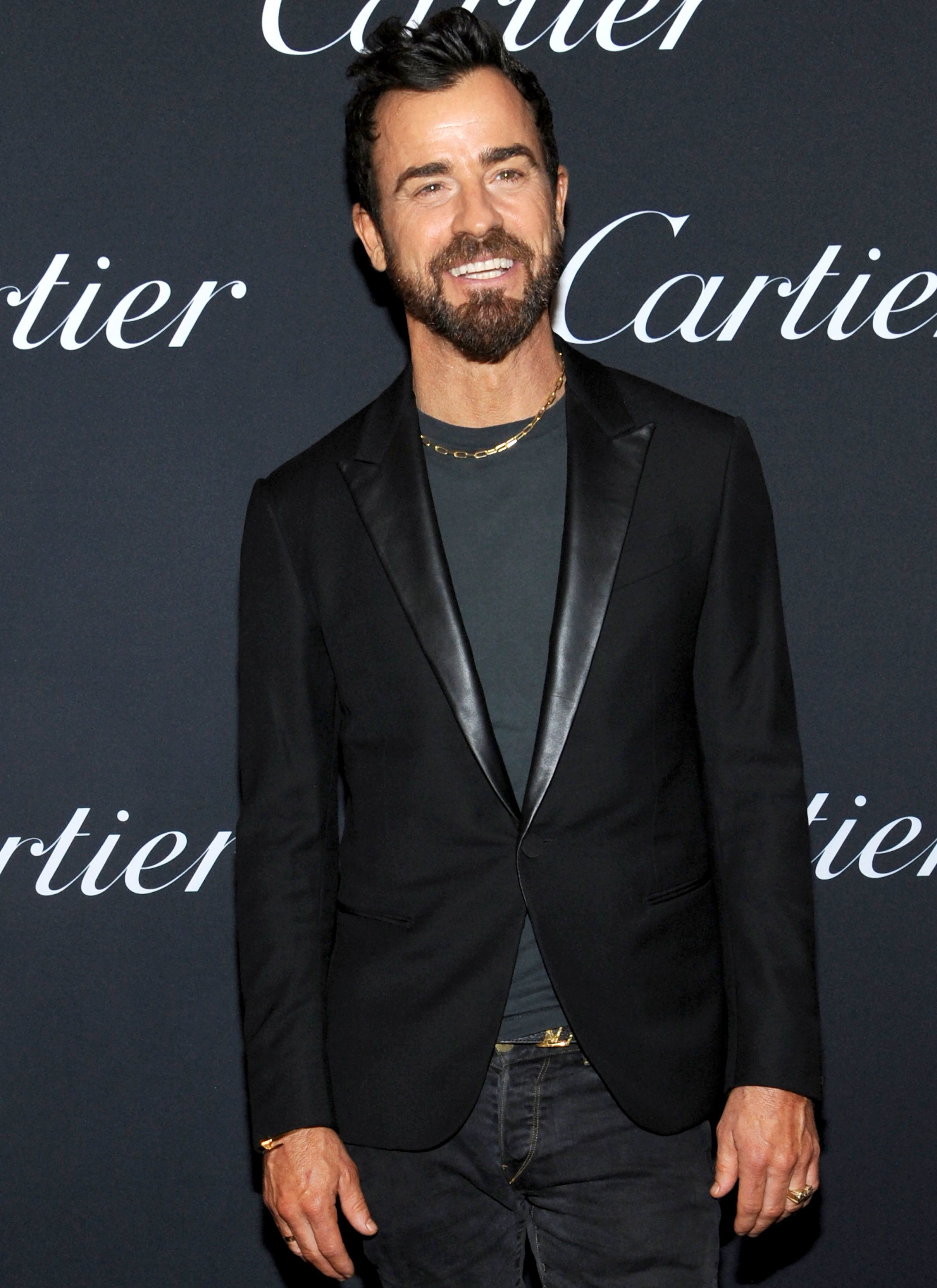 Justin Theroux attends the Cartier Precious Garage party for Spring/Summer 2019 at New York Fashion Week on Sept. 6, 2018.