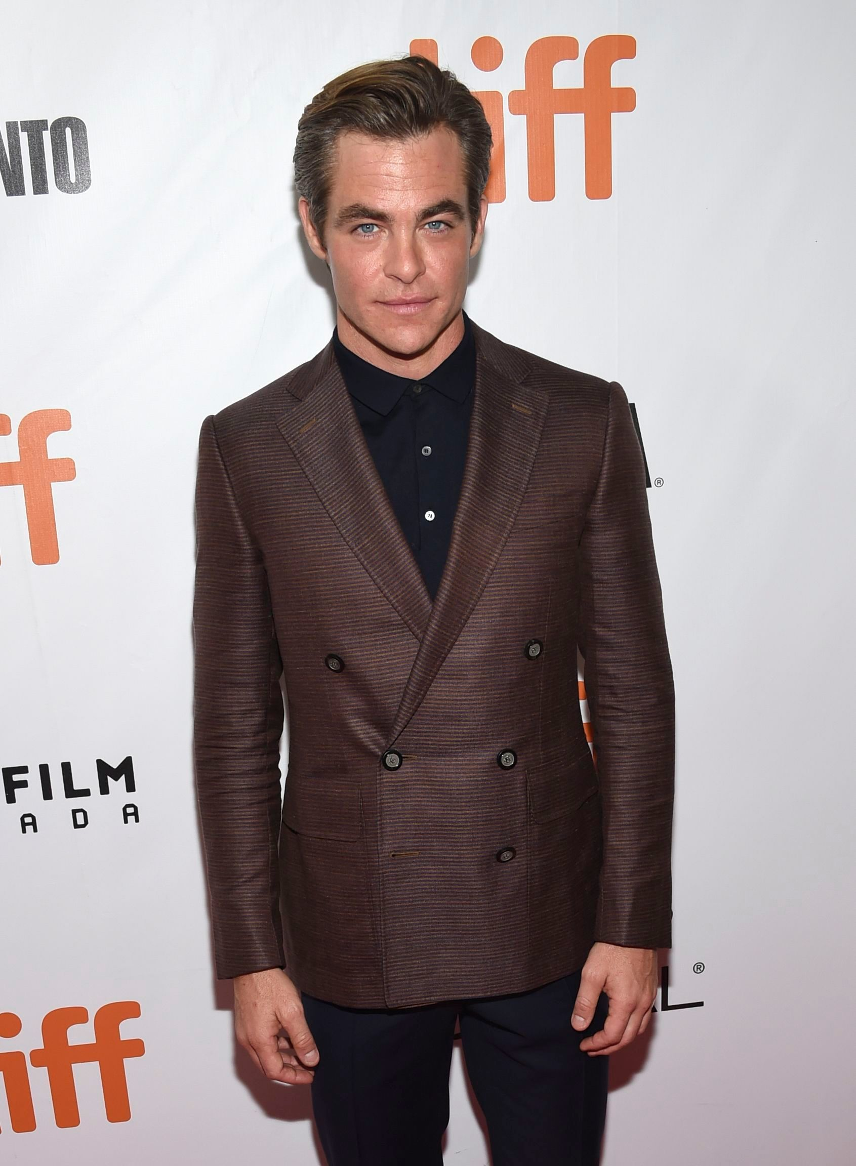 "Chris Pine attends the gala for ""Outlaw King"" at the Toronto International Film Festival at Roy Thomson Hall on Sept. 6, 2018."