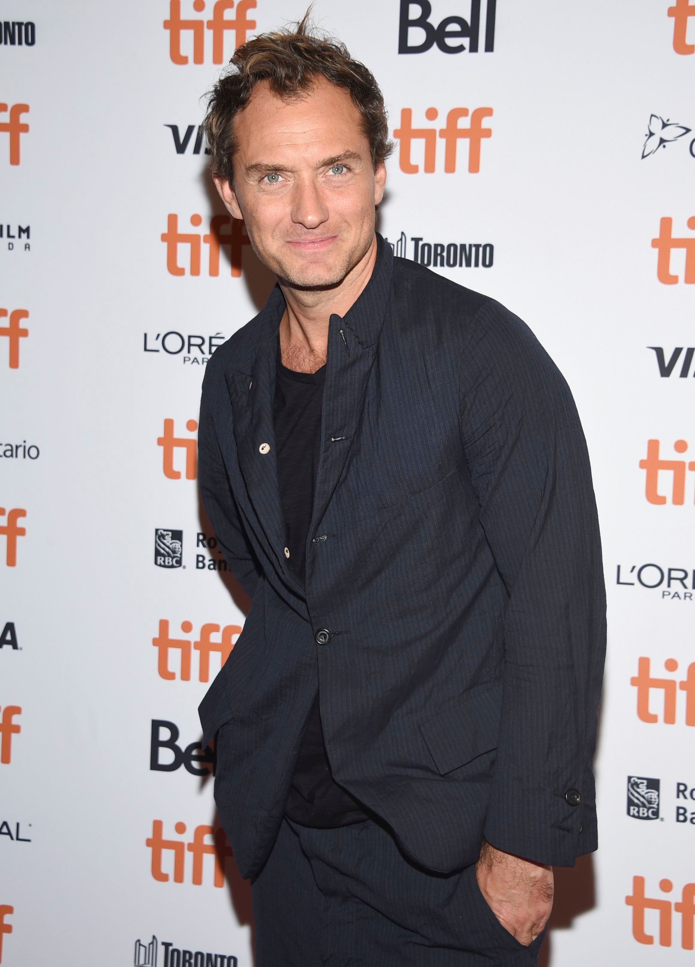 """Jude Law attends a screening for """"Vox Lux"""" at the Toronto International Film Festival on Sept. 7, 2018."""
