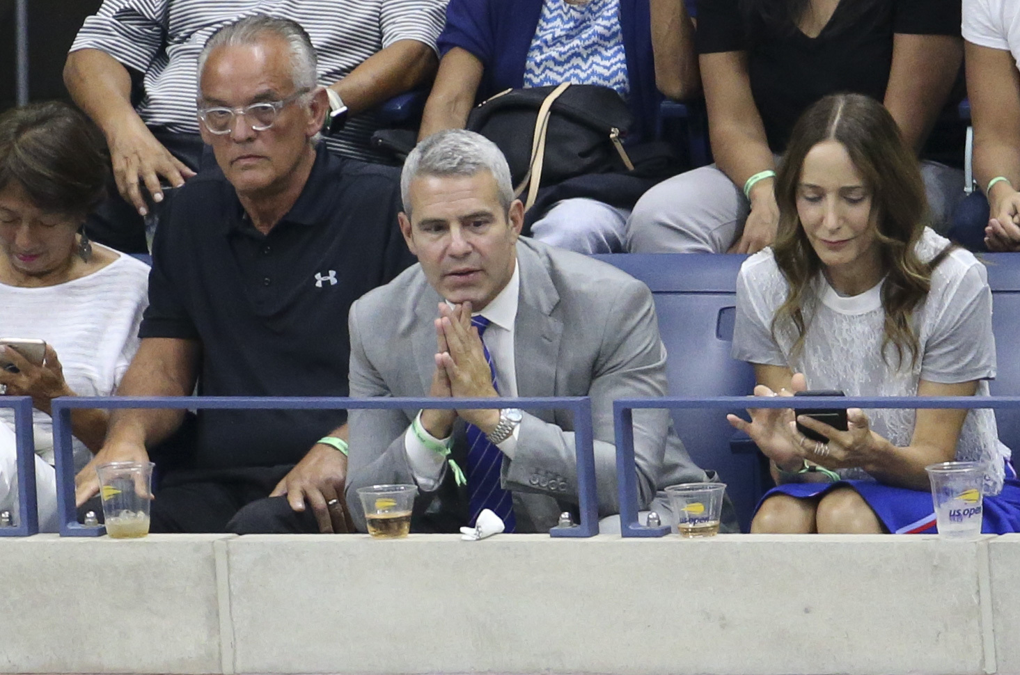 Andy Cohen attends the women's final on day 13 of the U.S. Open Tennis Championships in Flushing, New York, on Sept. 8, 2018.