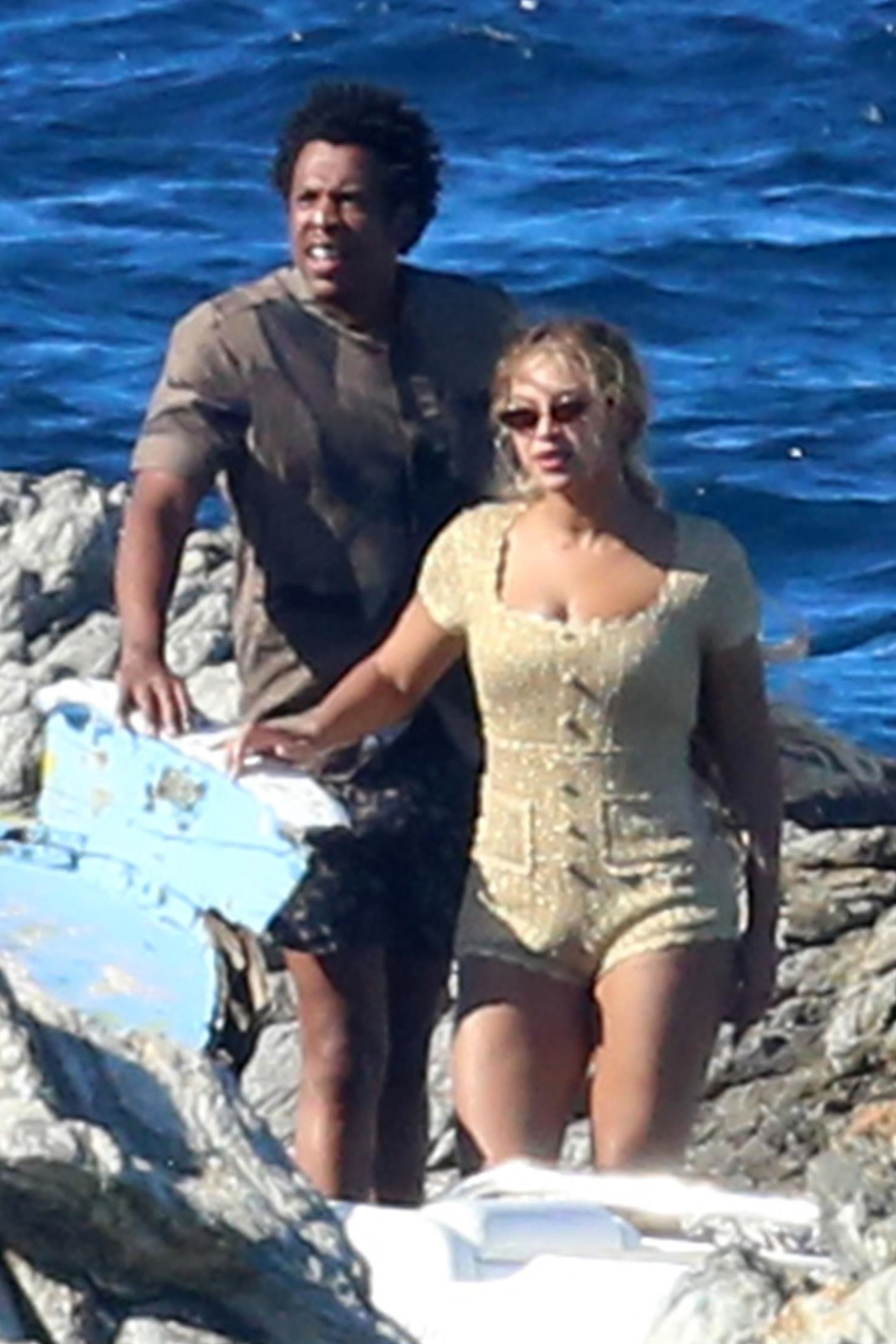 Beyonce and Jay Z spend the day on a lavish private yacht in Sardinia  on Sept. 8, 2018.