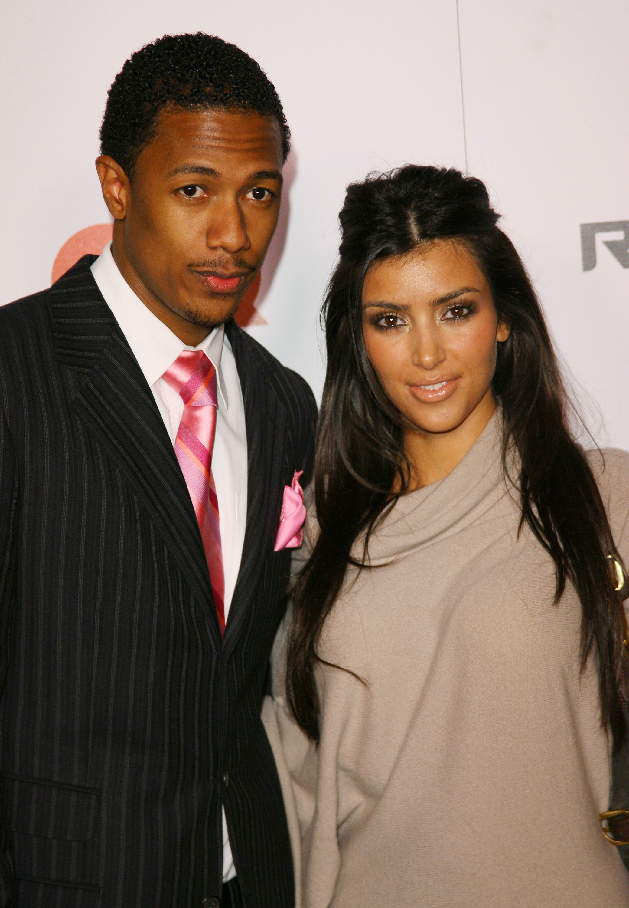 """Nick Cannon and Kim Kardashian during Jay Z Celebrates """"Kingdom Come"""" Album Release Party  in Los Angeles on Nov. 21, 2006."""