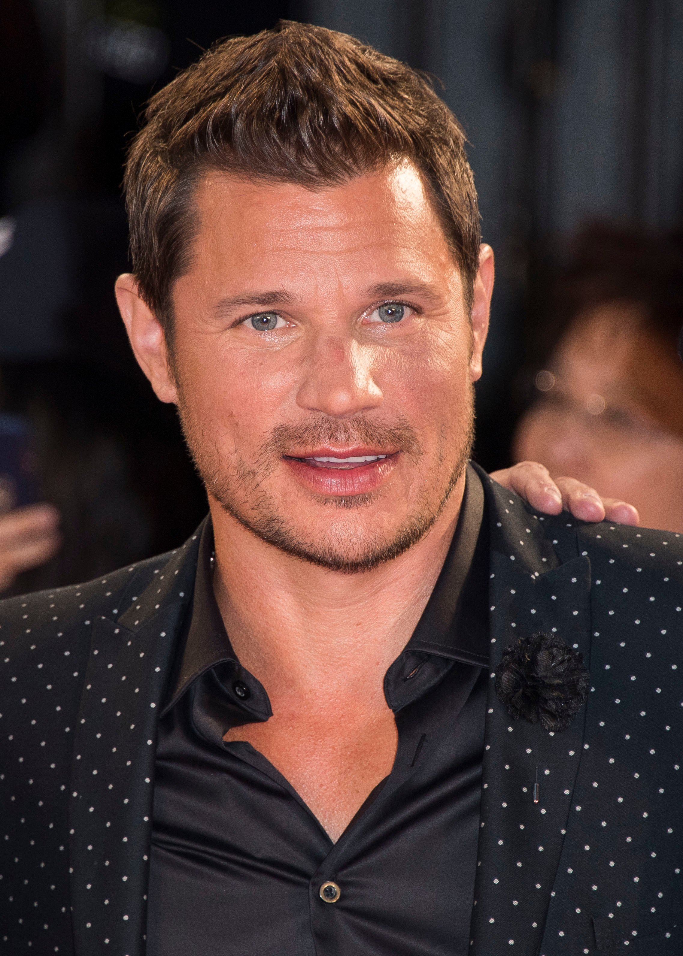 Nick Lachey arrives at the 2018 iHeartRadio MuchMusic Video Awards in Toronto on Aug. 26, 2018.
