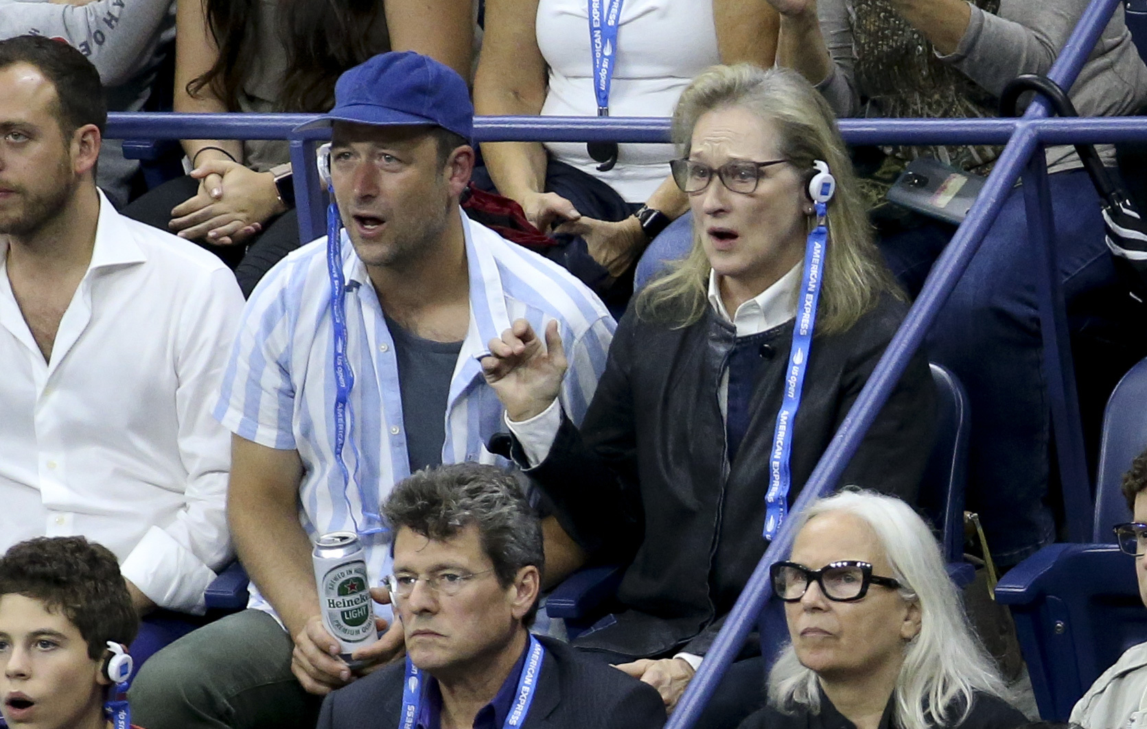 Meryl Streep attends the US Open in New York City on Sept. 9, 2018.