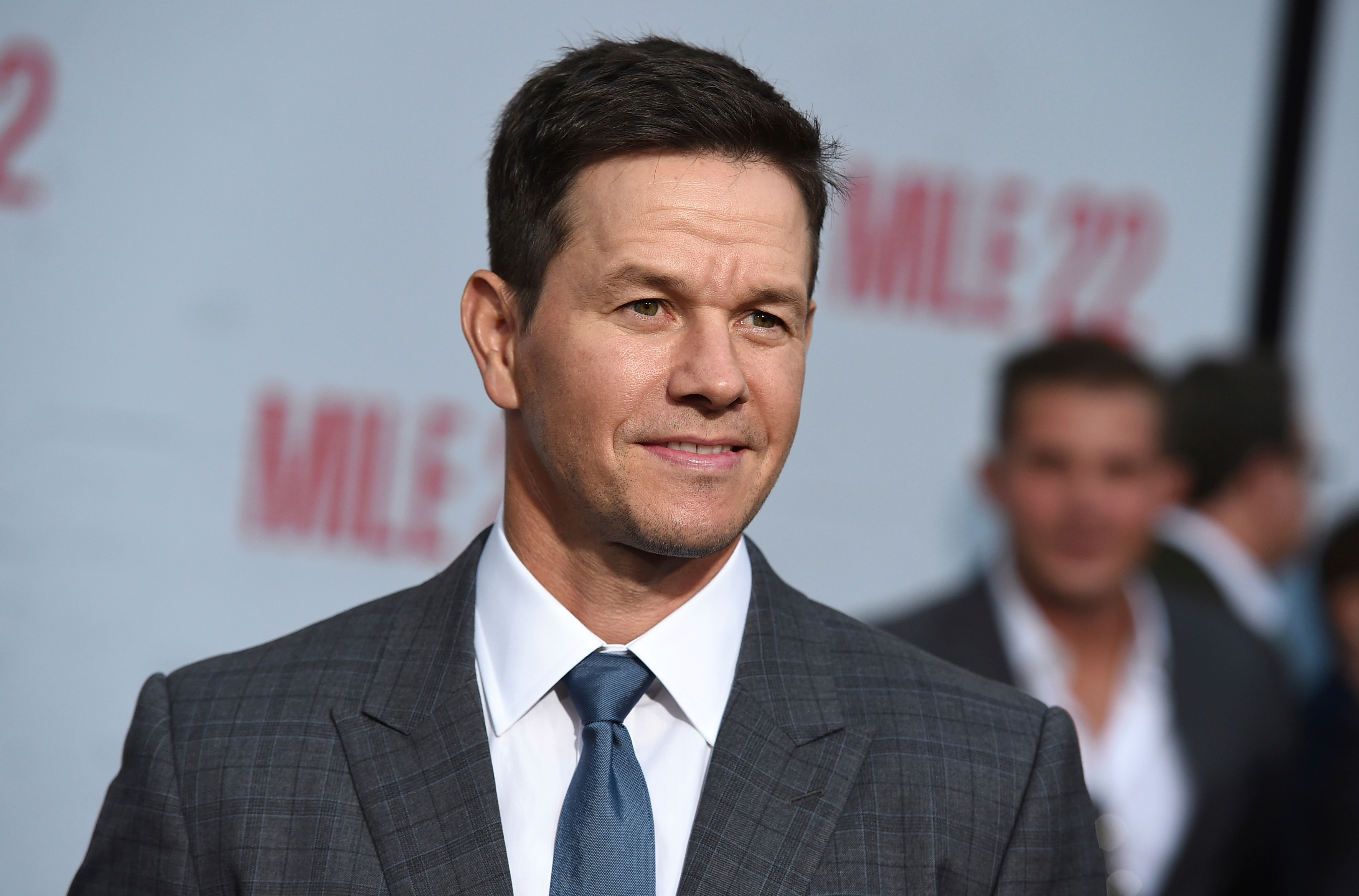 "Mark Wahlberg arrives at the Los Angeles premiere of ""Mile 22"" in Los Angeles on Aug. 9, 2018."