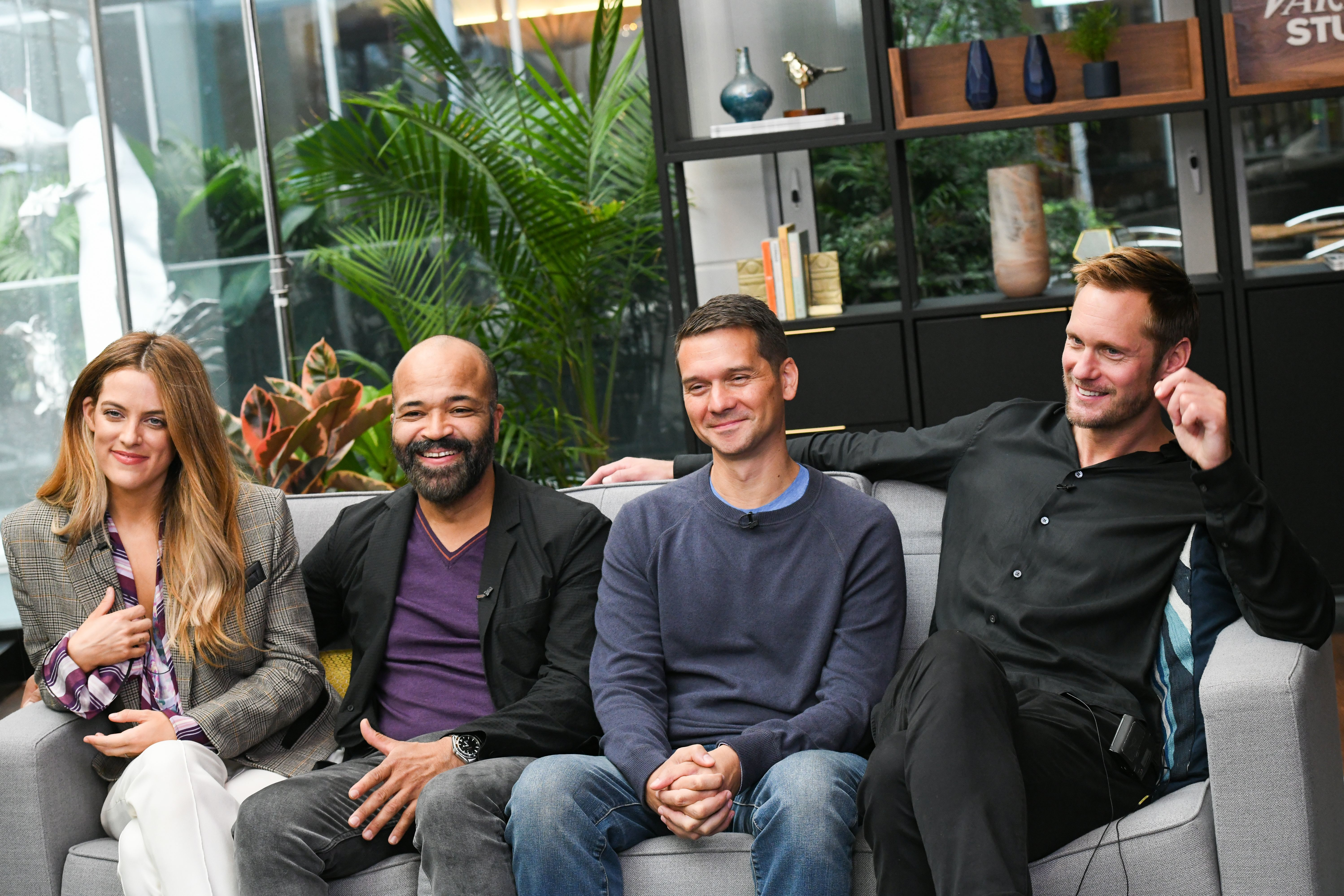 Riley Keough, Jeffrey Wright, Jeremy Saulnier and Alexander Skarsgard hung out at the  Variety Studio in Toronto, Canada n Sept. 10, 2018.