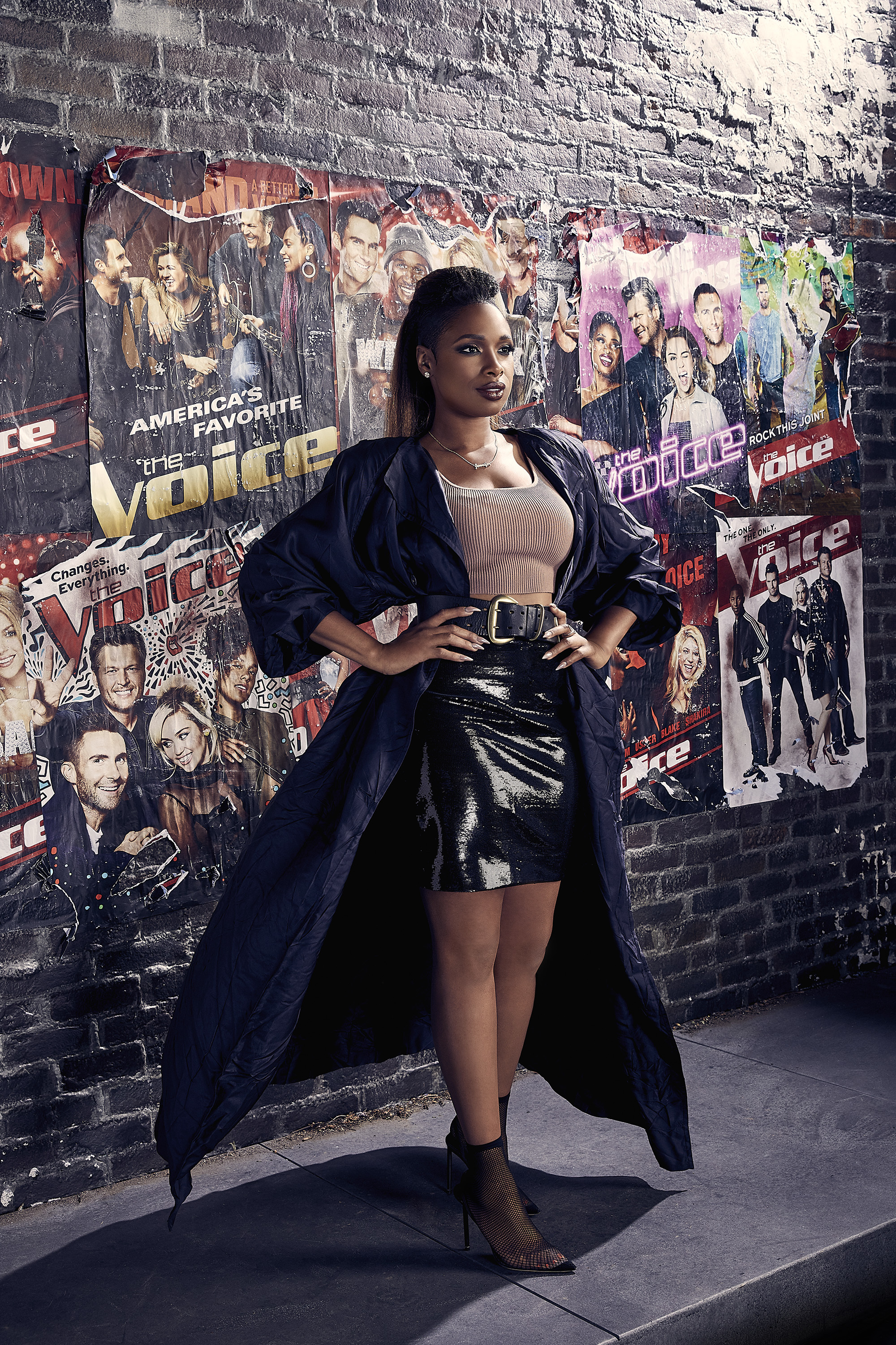 "Jennifer Hudson is shown on the set of ""The Voice"" Season 15 in July 2018."