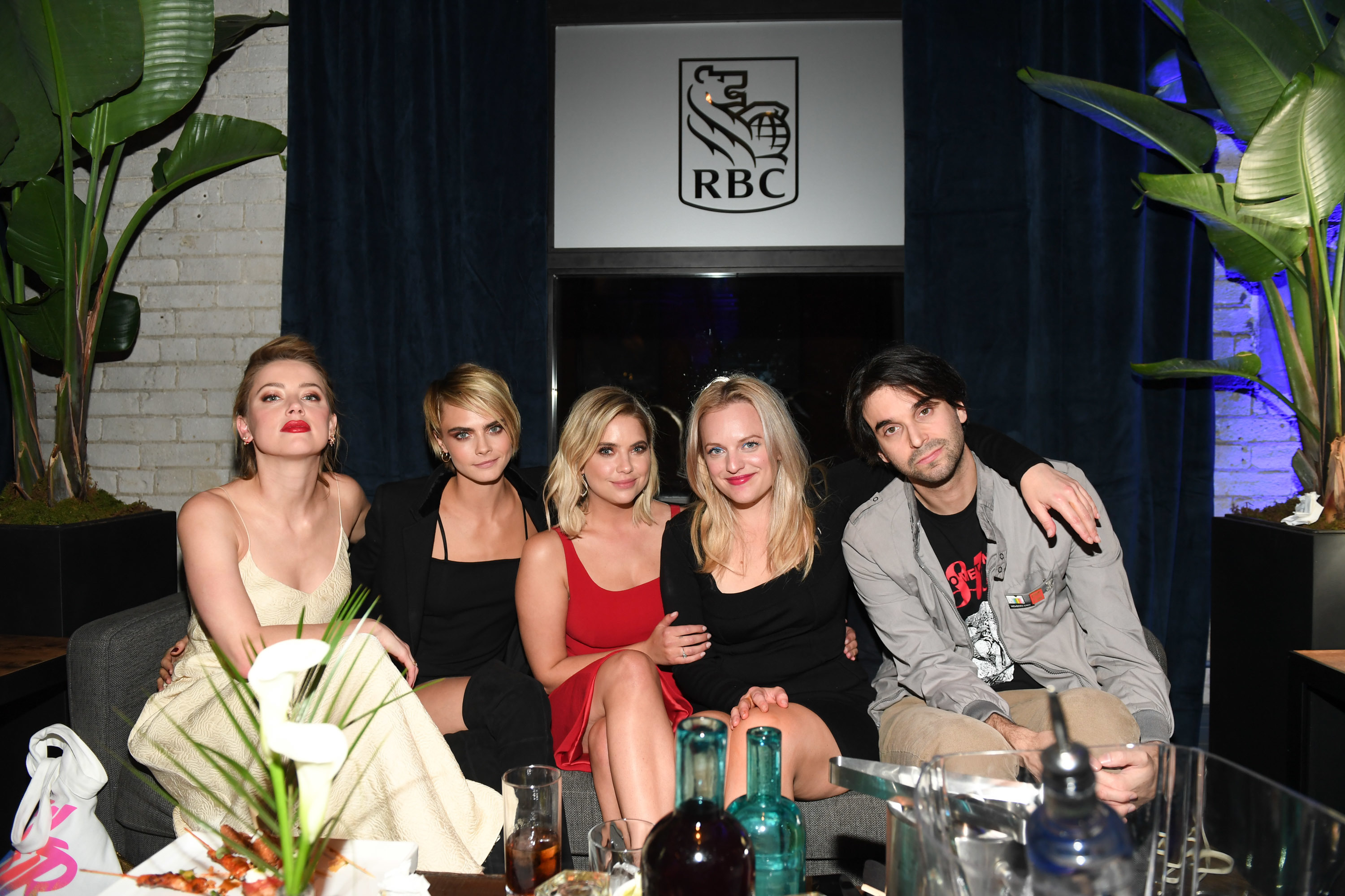 Amber Heard, Cara Delevingne, Ashley Benson, Elisabeth Moss and Alex Ross Perry attend a party for Her Smell during the Toronto International Film Festival at the RBC House on Sept. 9, 2018.