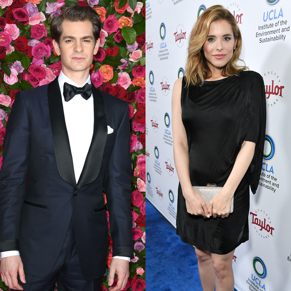 Andrew Garfield attends the 72nd Annual Tony Awards in New York City on June 10, 2018. Susie Abromeit attends UCLA's Institute of the Environment and Sustainability Gala in Los Angeles on March 22, 2018.