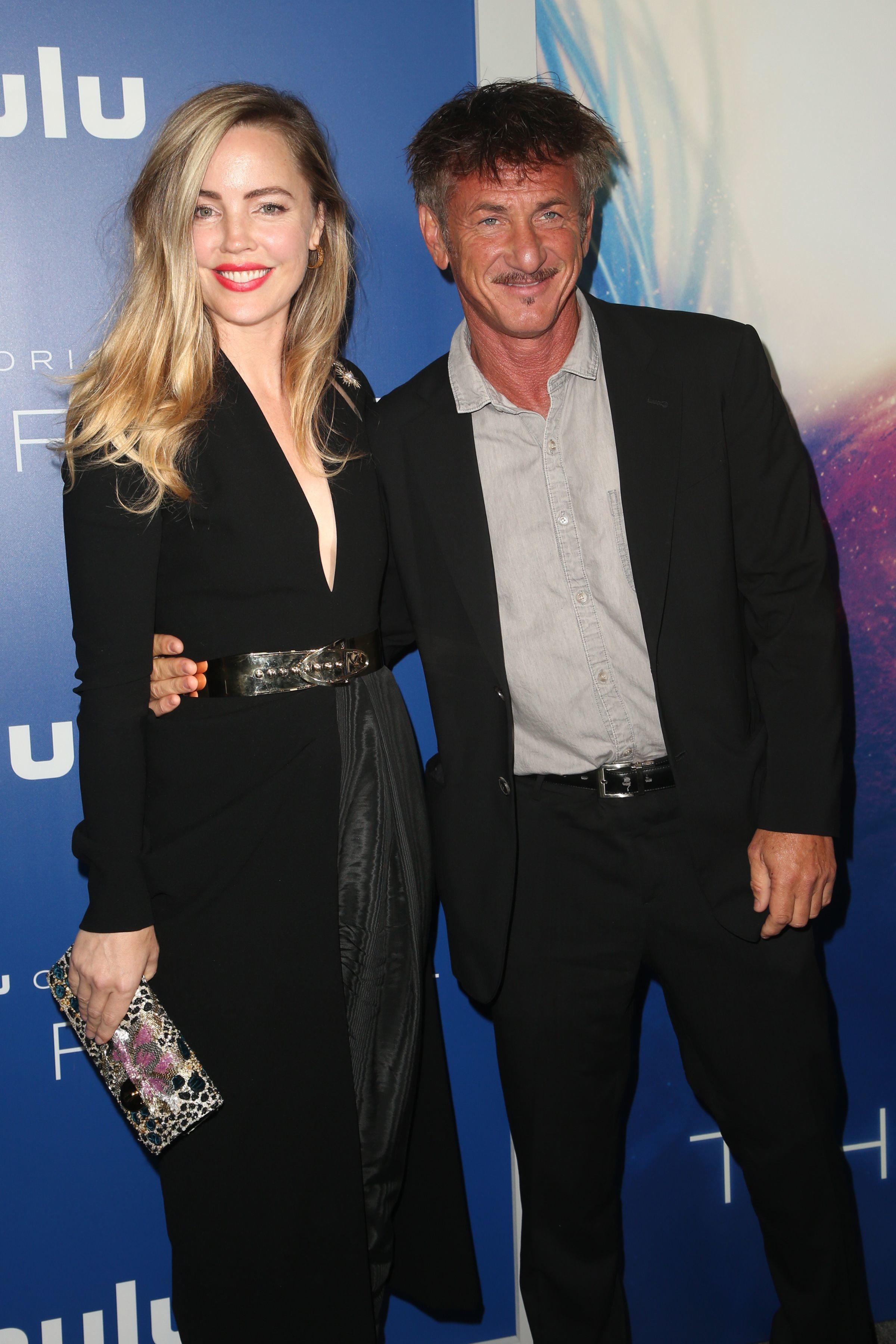 """Melissa George and Sean Penn attend """"The First"""" TV show premiere in London on Sept. 12, 2018."""