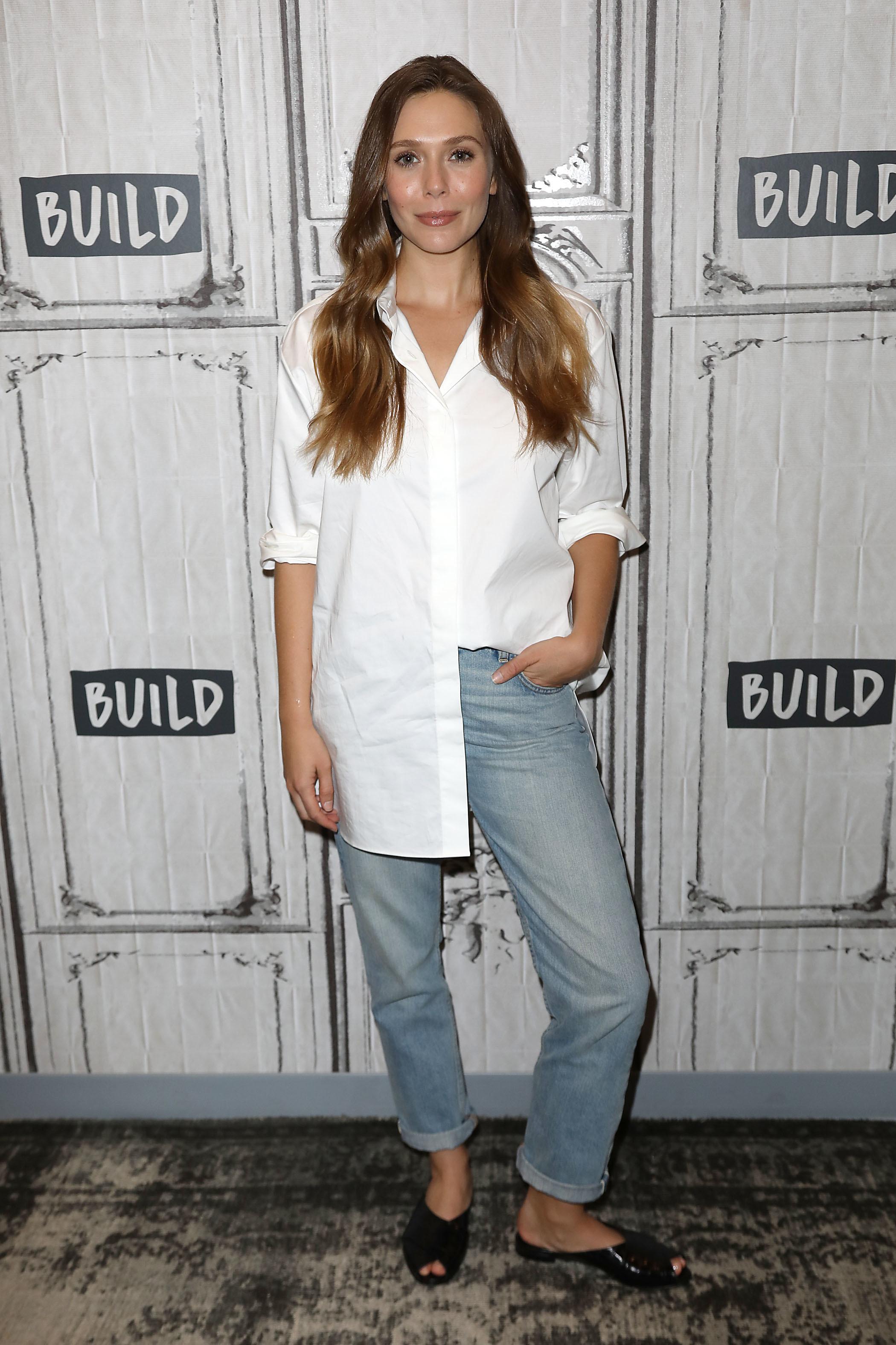 Elizabeth Olsen attends the BUILD Speaker Series in New York City on Sept. 12, 2018.