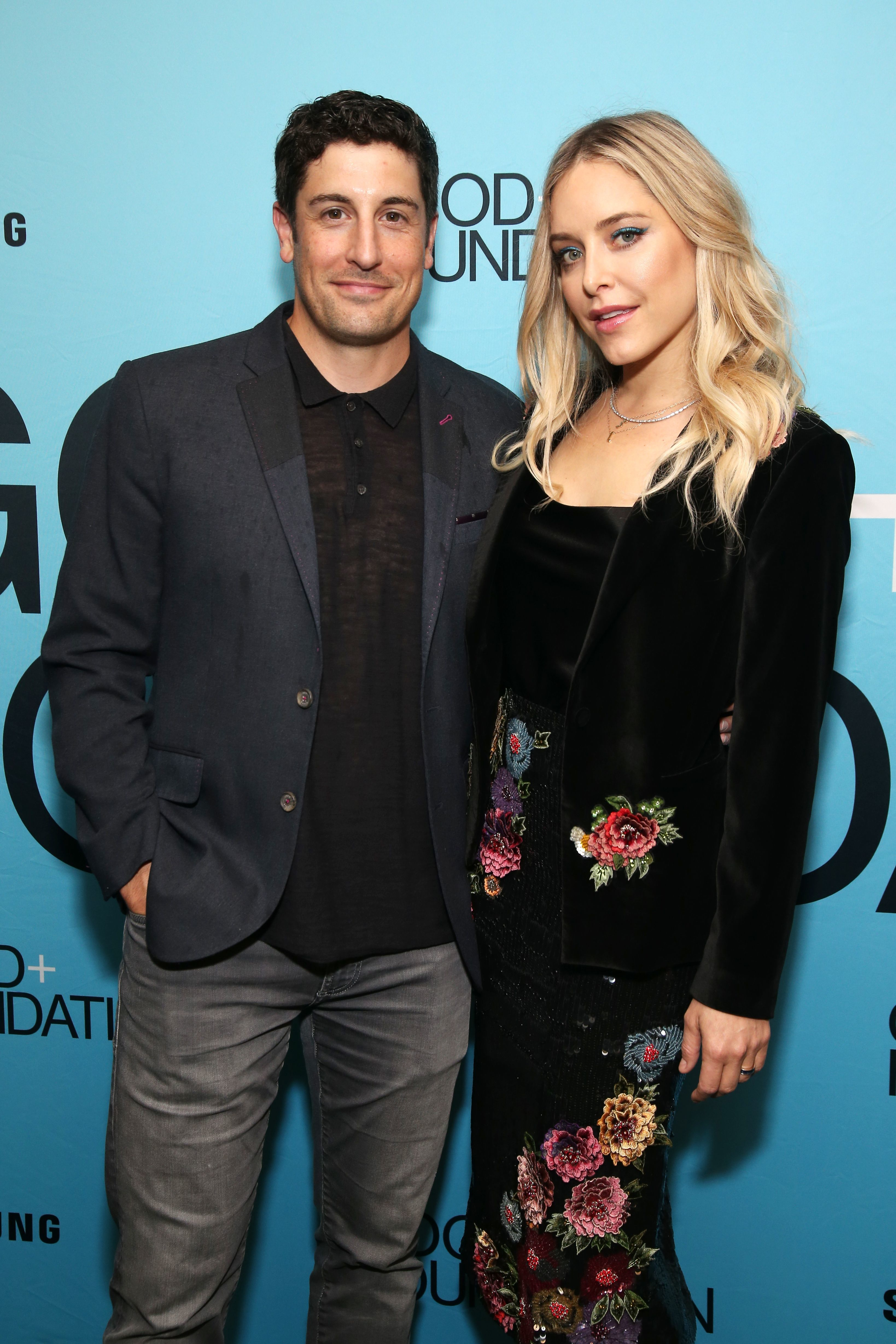 Jason Biggs and Jenny Mollen attend the Good + Foundation Benefit: An Evening of Comedy and Music in New York City on Sept. 12, 2018.