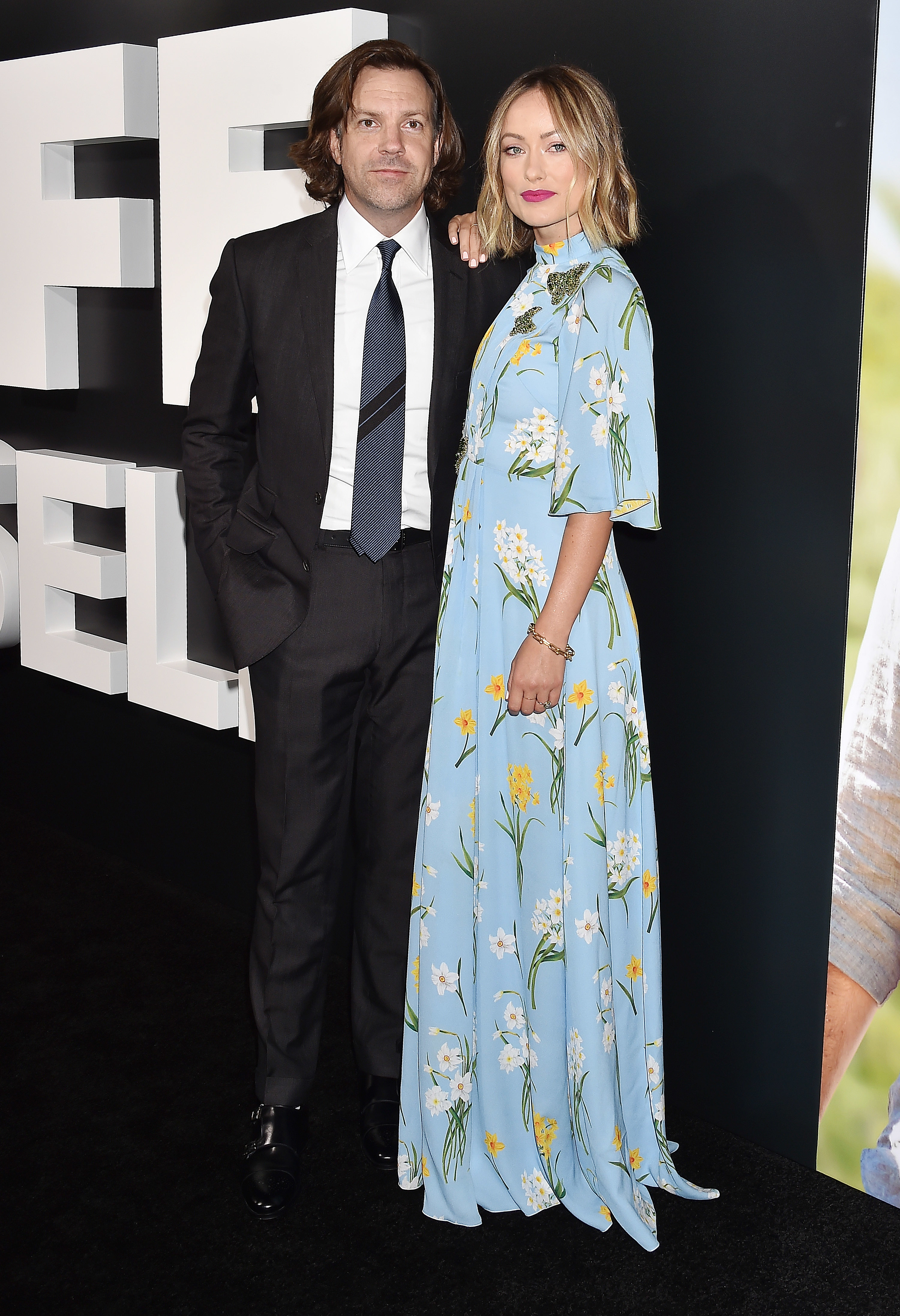 """Jason Sudeikis and Olivia Wilde attend the """"Life Itself"""" film premiere in Los Angeles on Sept. 13, 2018."""