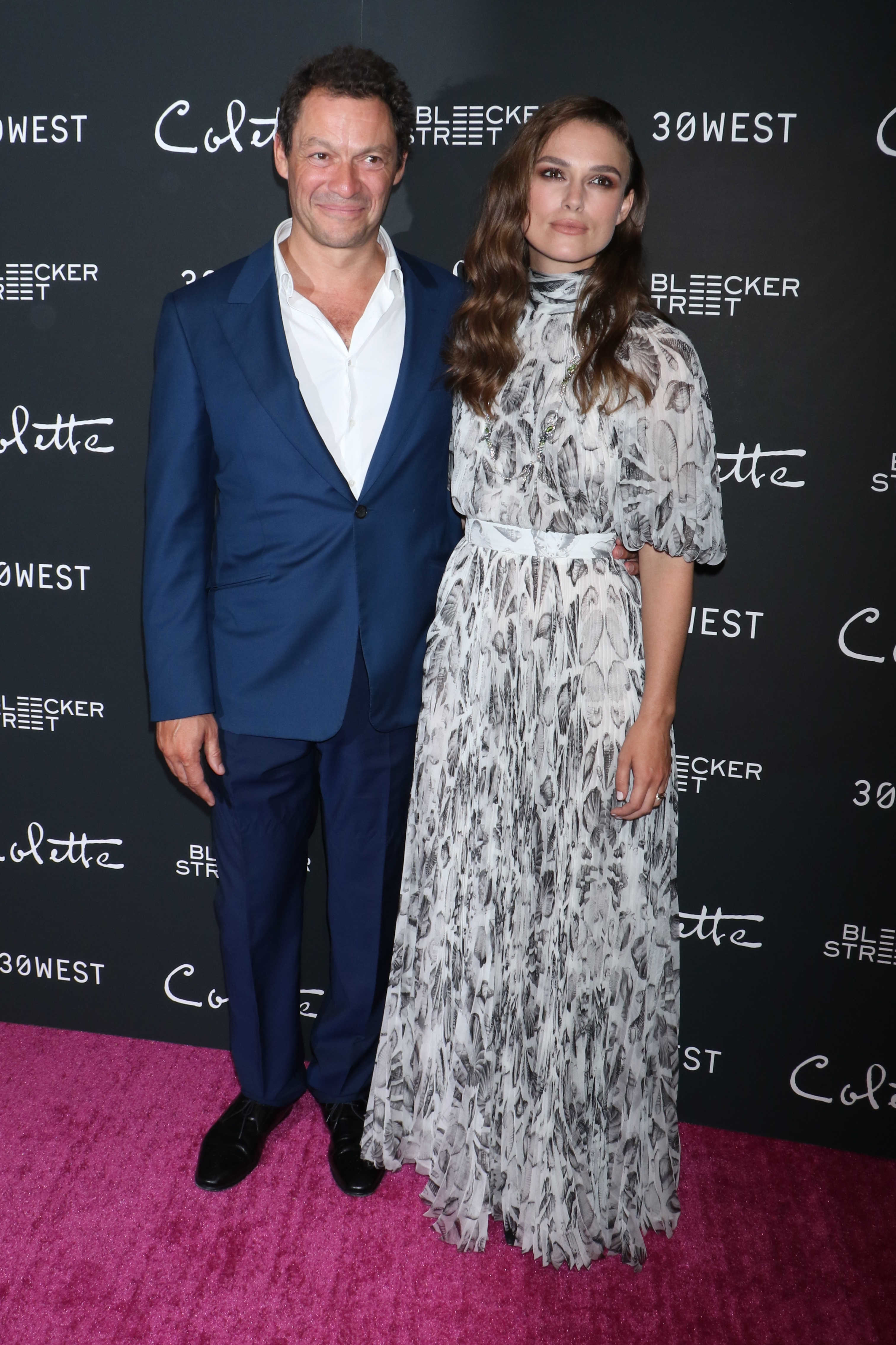 """Dominic West and Keira Knightley attend the """"Colette"""" film screening in New York City on Sept. 13, 2018."""