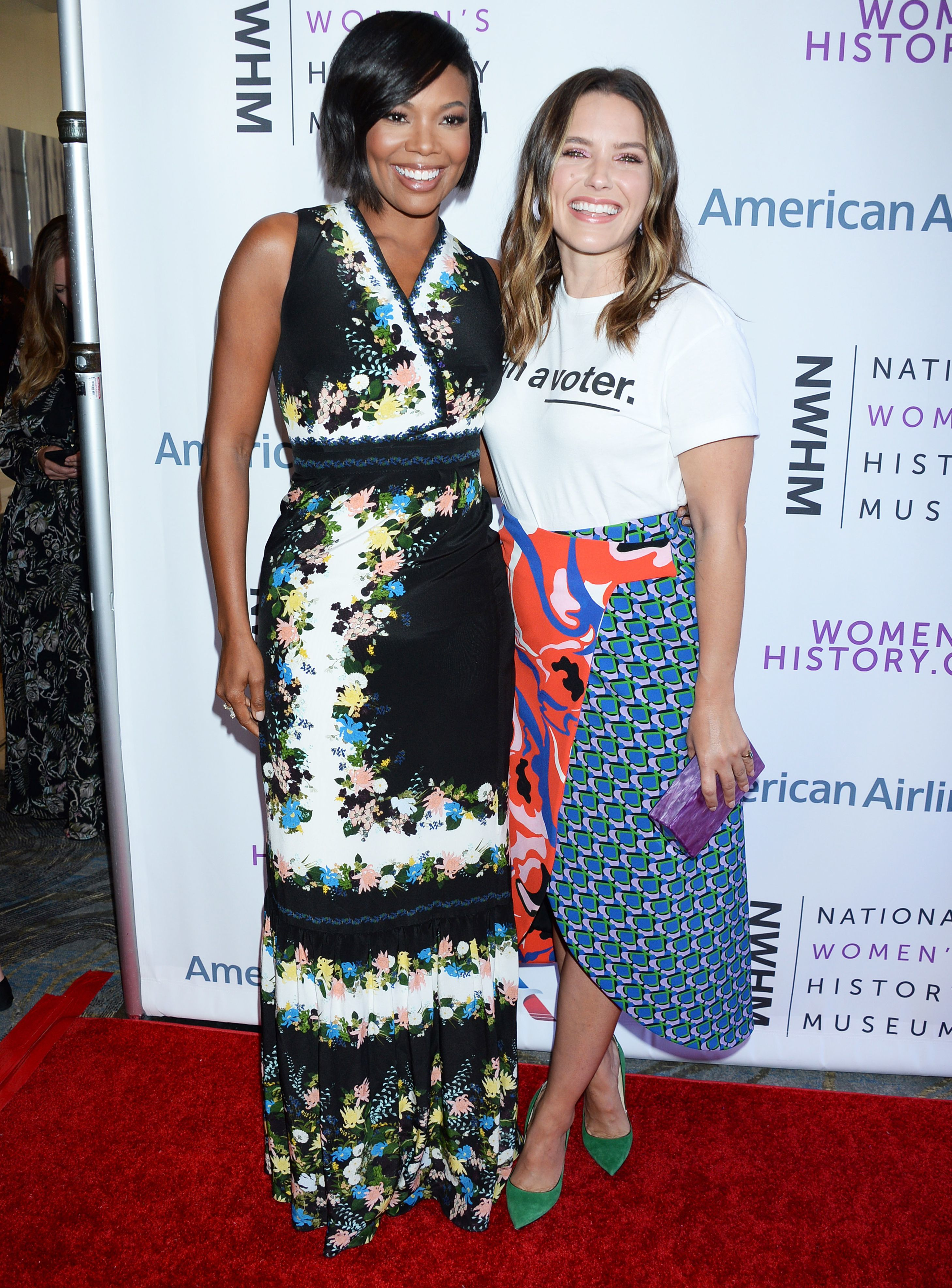 Gabrielle Union and Sophia Bush attend the National Women's History Museum Women Making History Awards in Los Angeles on Sept. 15, 2018.