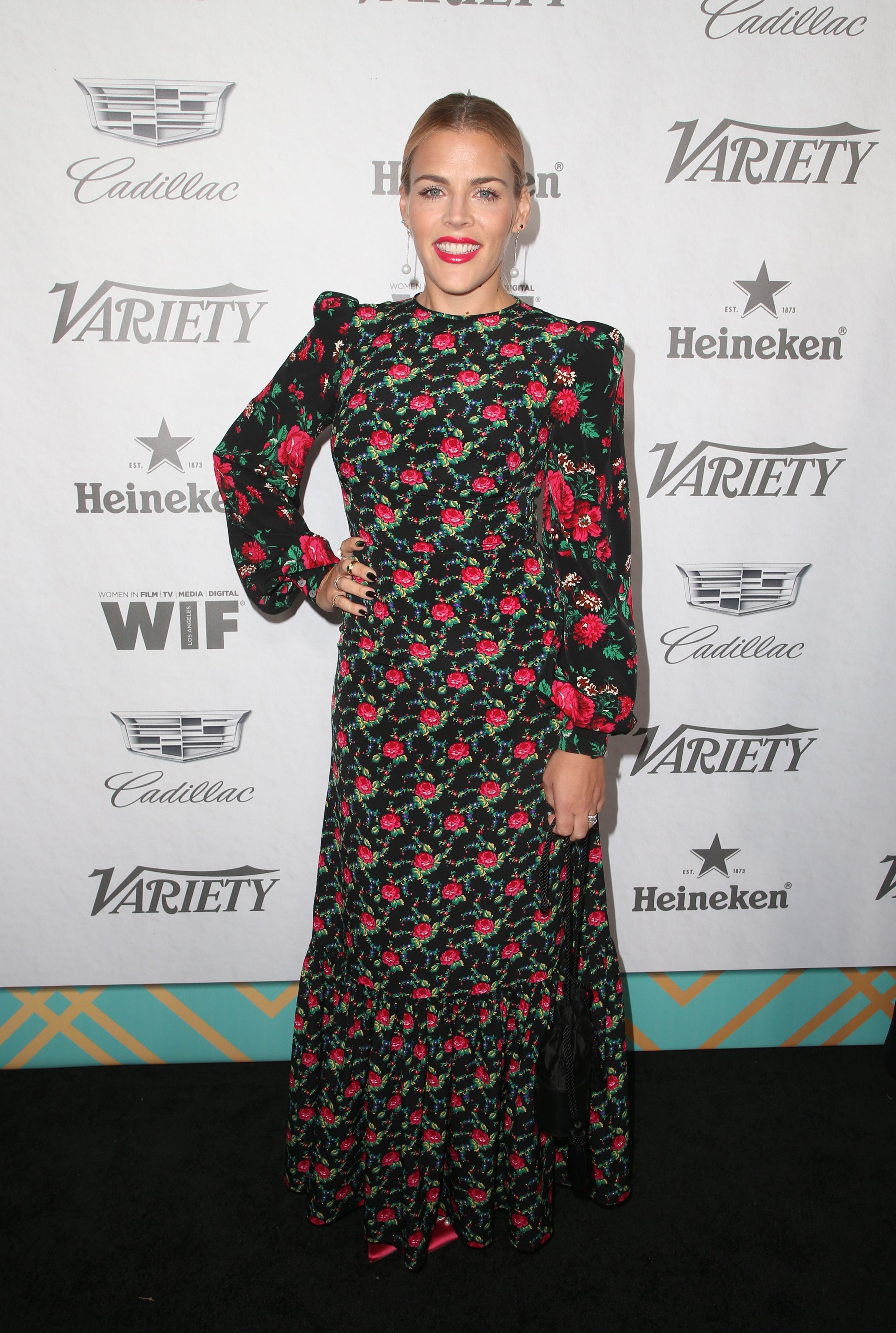 Busy Philipps attends the Variety and Women in Film Pre Emmy Party in Los Angeles on Sept. 15, 2018.