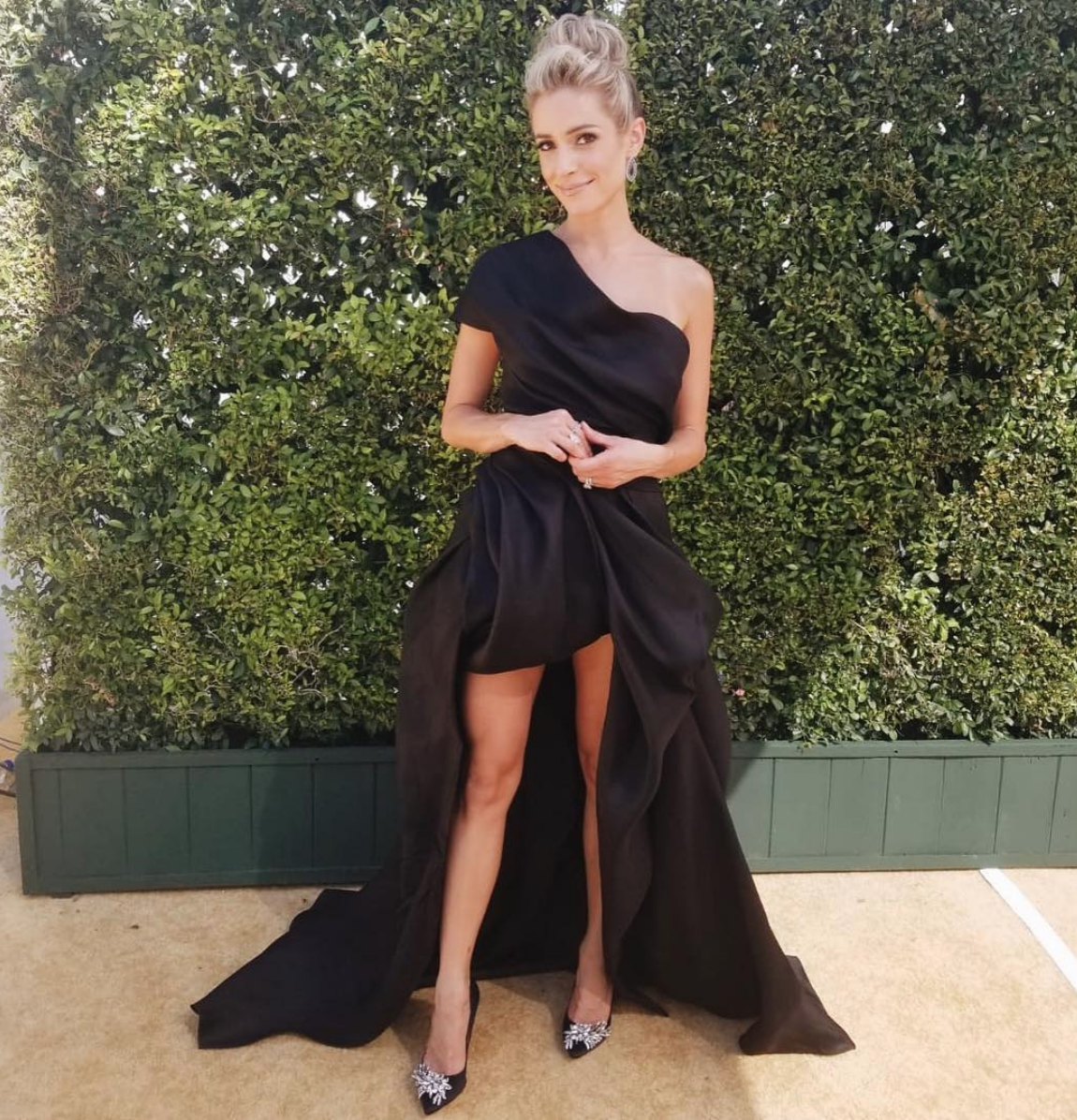 """""""That gold carpet at The Emmys ✨""""   Kristin Cavallari, who posted this on Sept. 17, 2018."""