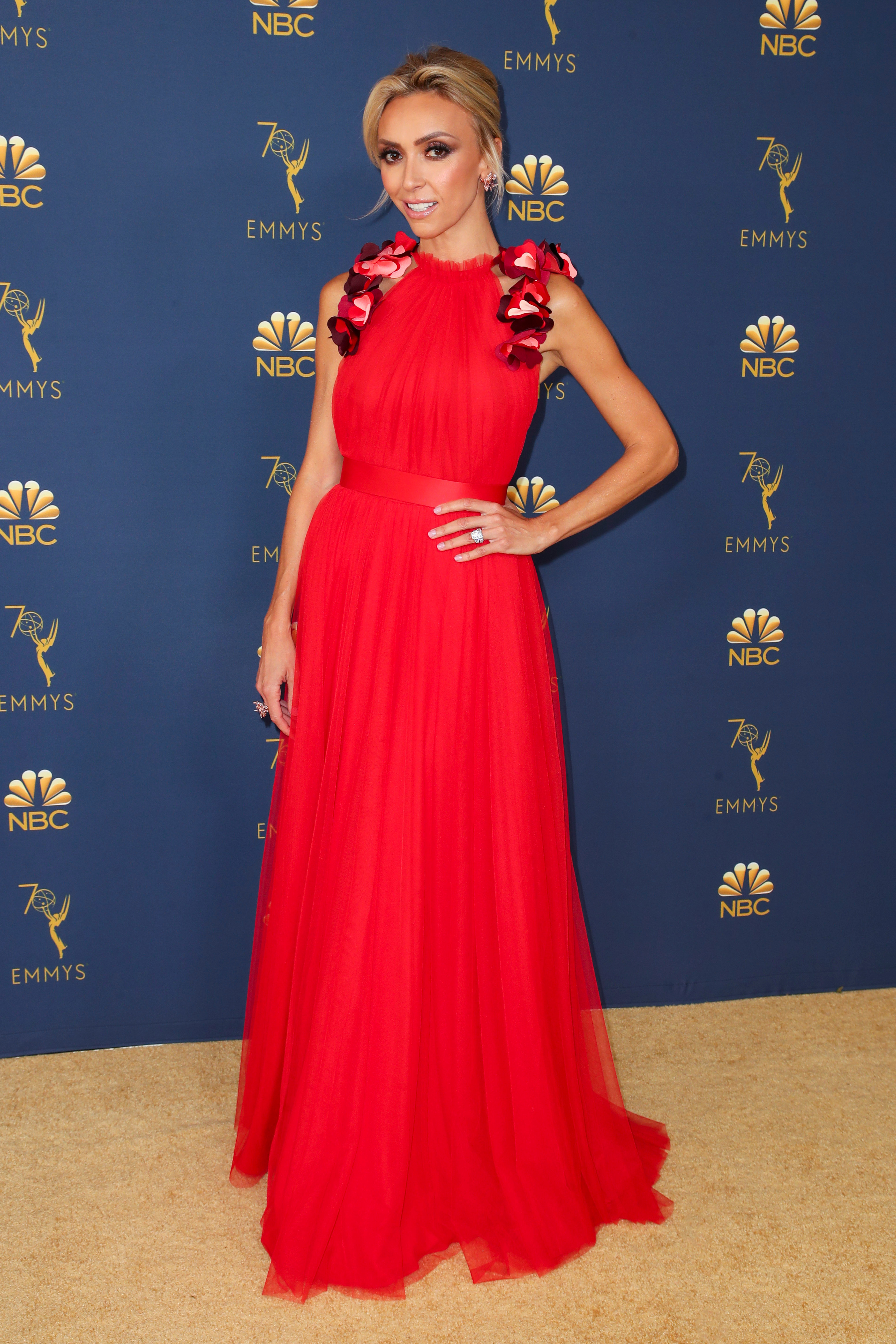 Giuliana Rancic attends the 70th Primetime Emmy Awards in Los Angeles on Sept. 17, 2018.