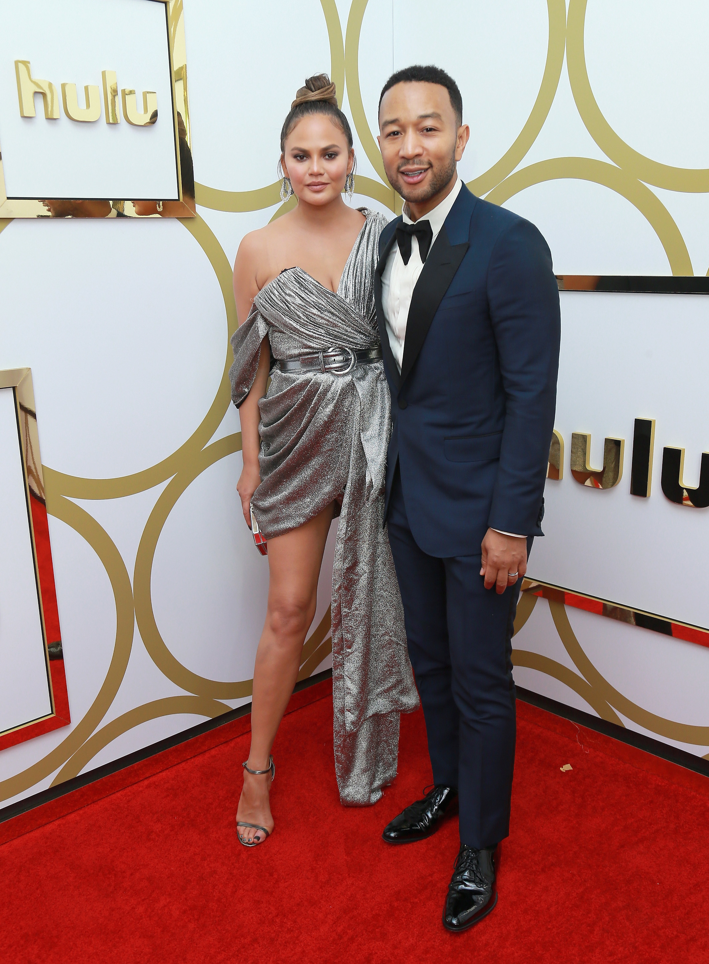 Chrissy Teigen and John Legend attend Hulu's Emmys afterparty at the Nomad Hotel in Los Angeles on Sept. 17, 2018.
