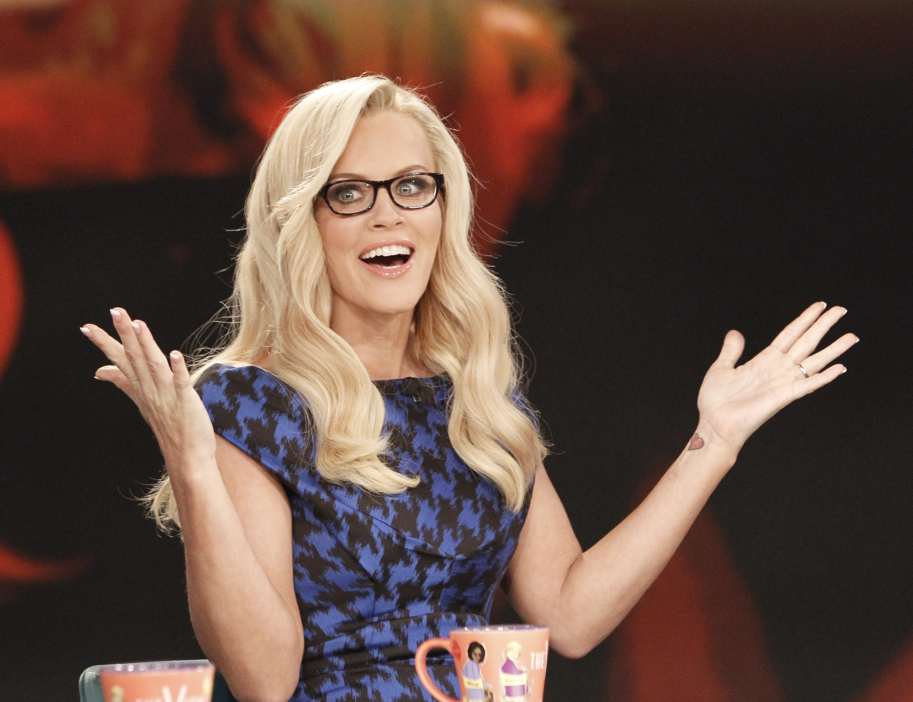 "Jenny McCarthy is shown on the set of ""The View"" in 2013."