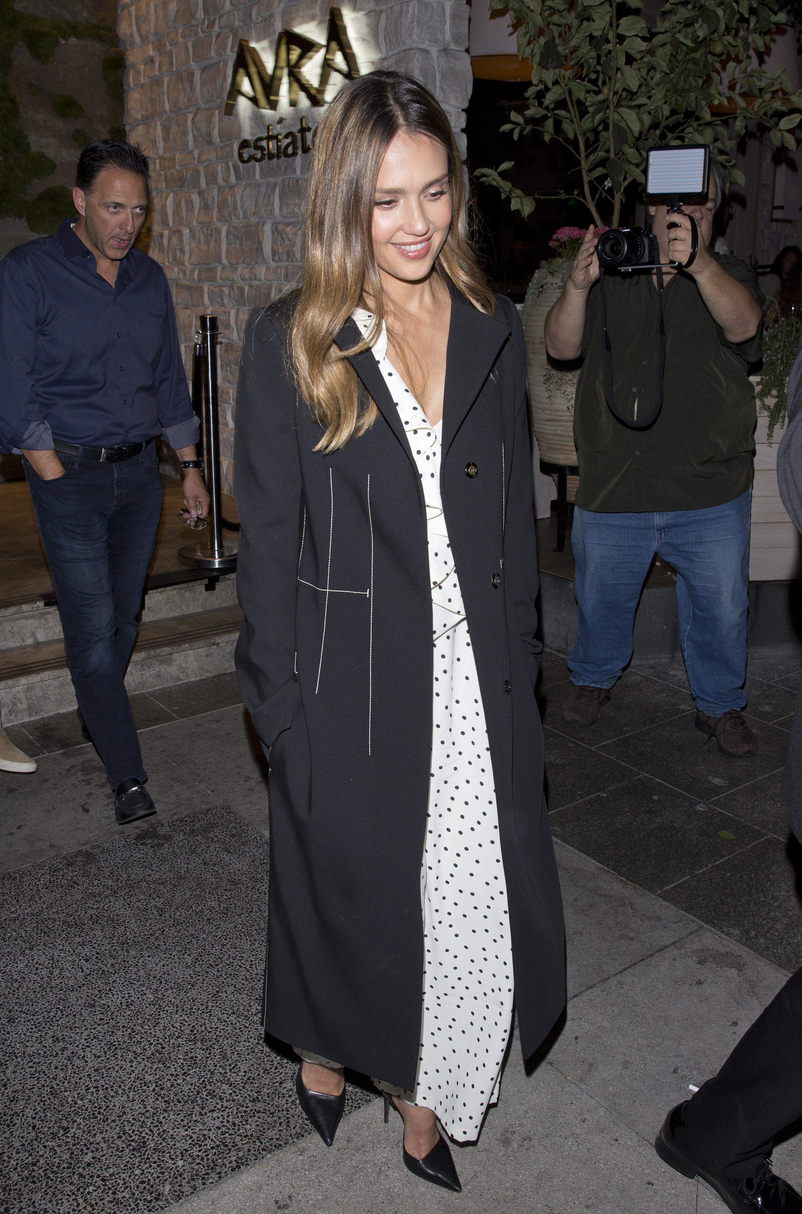 Jessica Alba leaves dinner in Beverly Hills on Sept. 18, 2018.