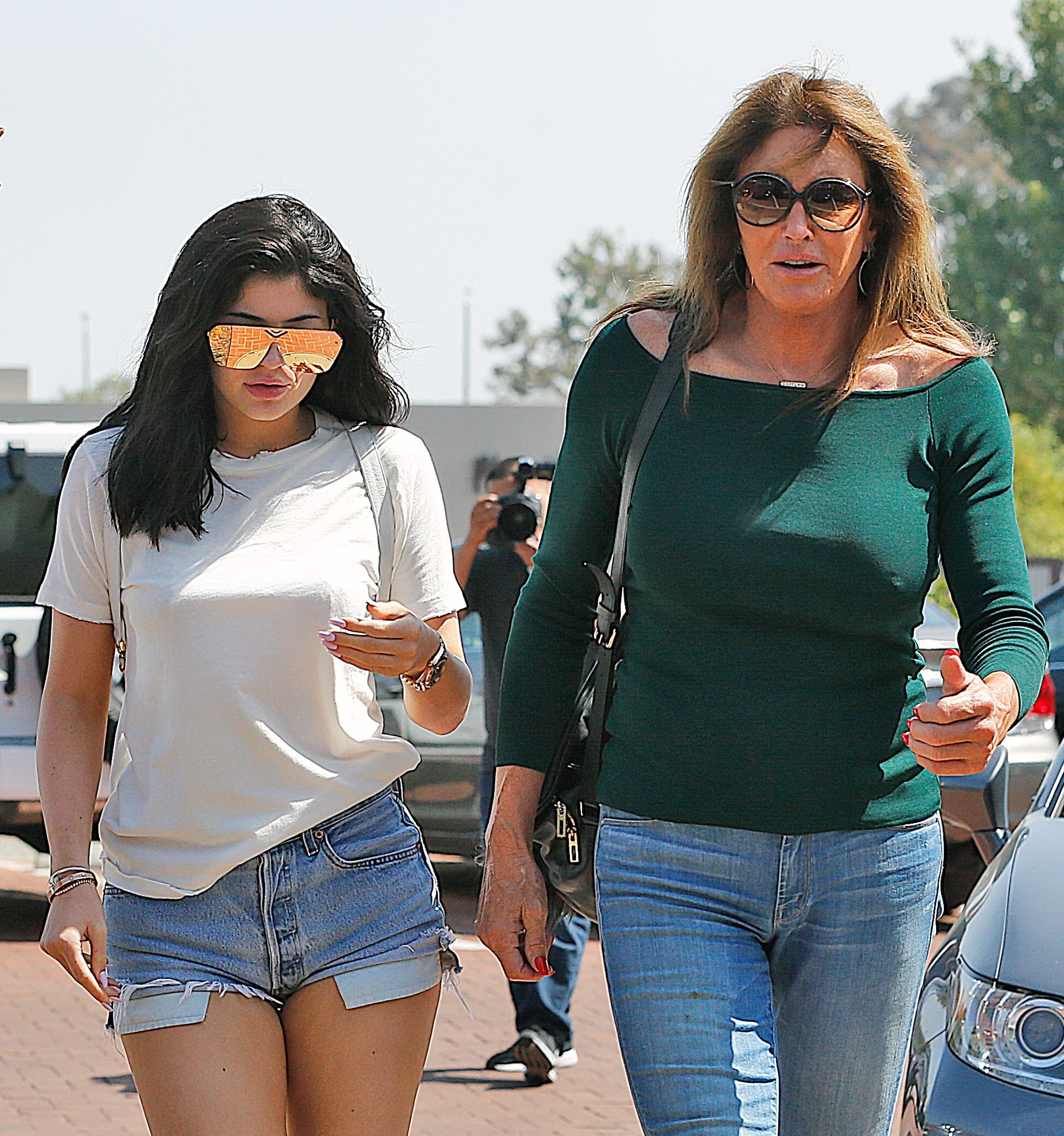 Caitlyn Jenner and Kylie Jenner hang out in Malibu, Calif., on June 4, 2016.