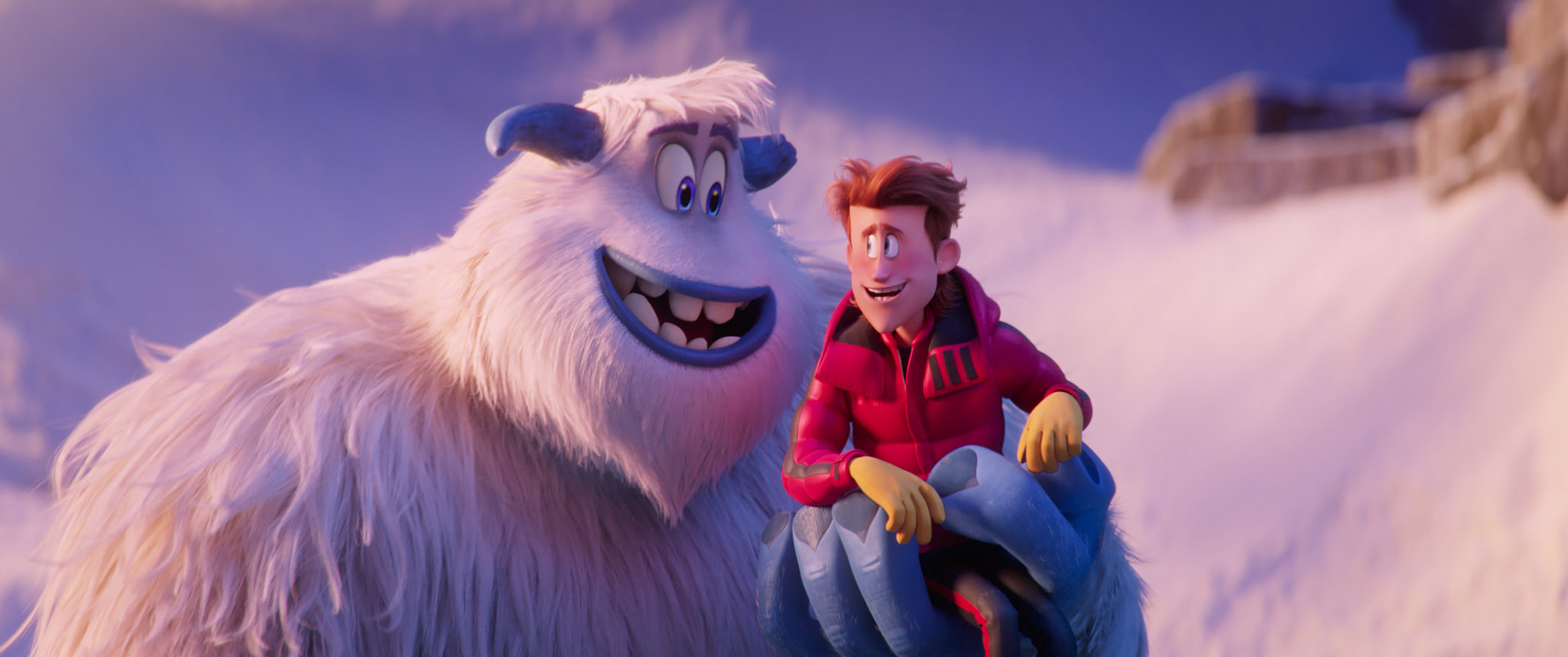 """Migo voiced by Channing Tatum and Percy voiced by James Corden in the 2018 animated adventure """"Smallfoot."""""""