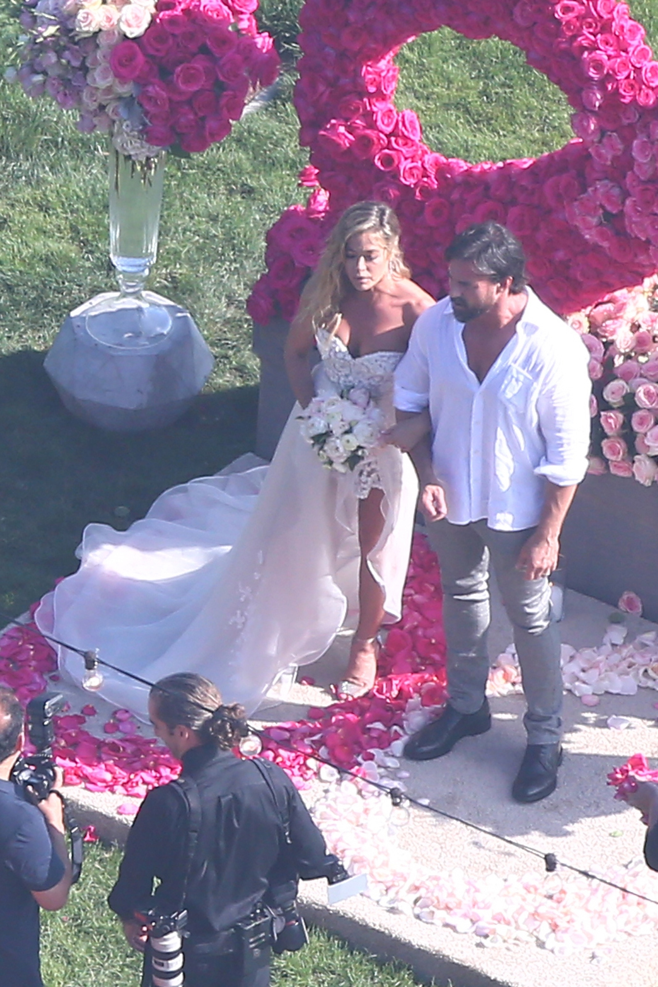 Denise Richards and Aaron Phypers marry in Malibu on Sept. 8, 2018.