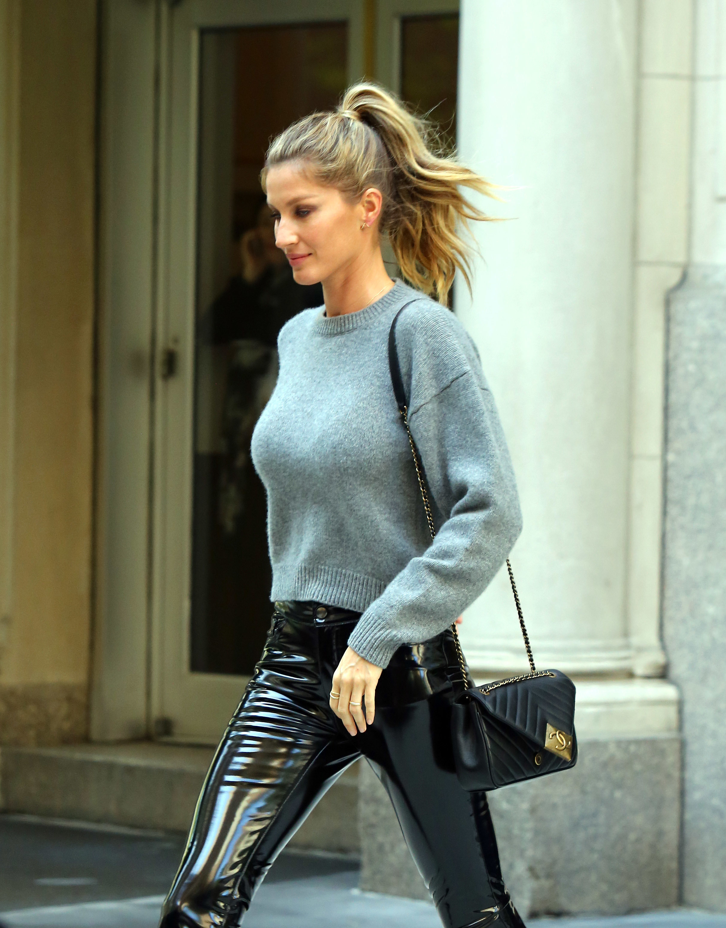 Gisele Bundchen is seen out and about in New York City on April 27, 2016.
