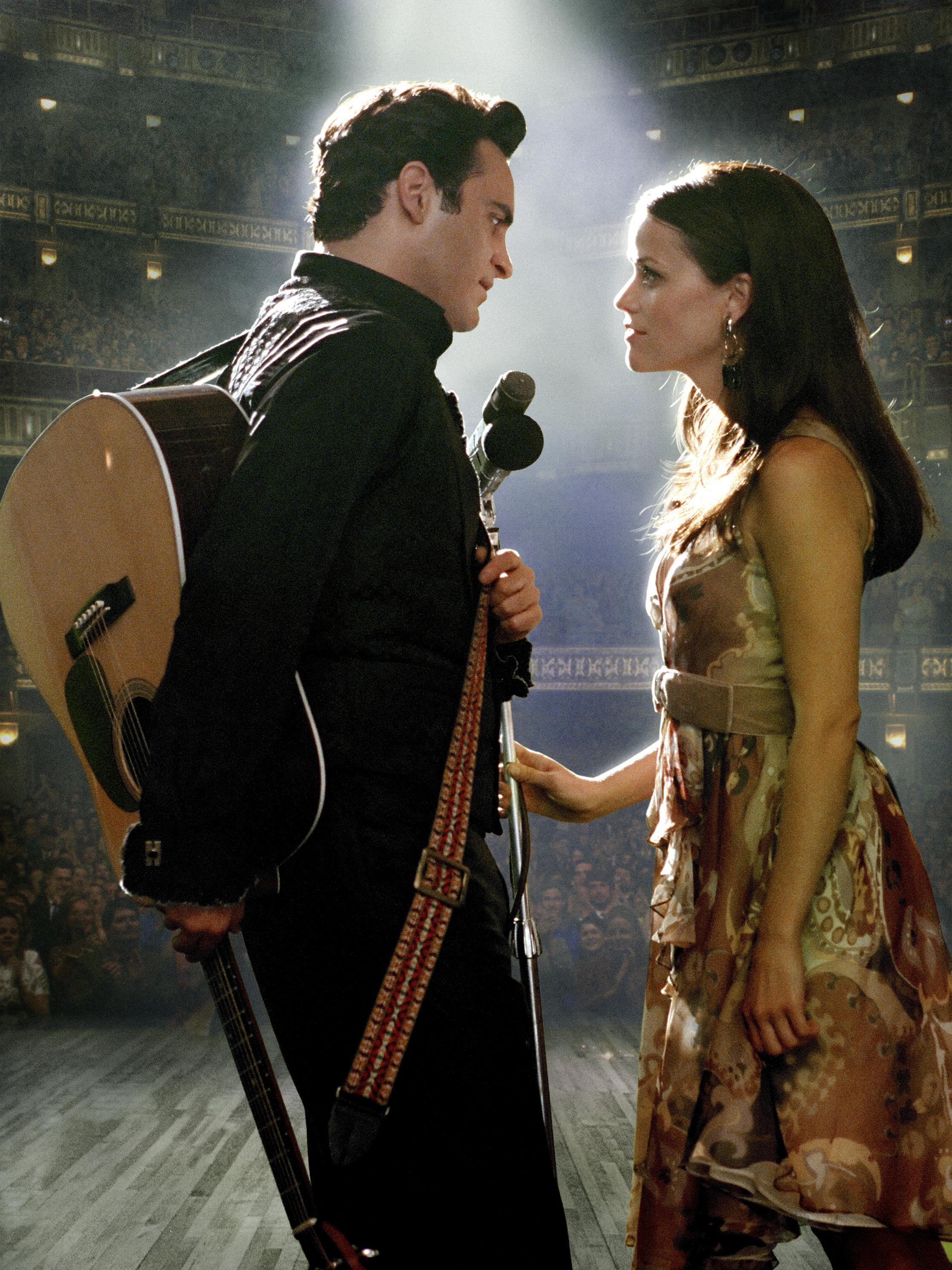 """Joaquin Phoenix and Reese Witherspoon in the 2005 biopic """"Walk The Line ."""""""