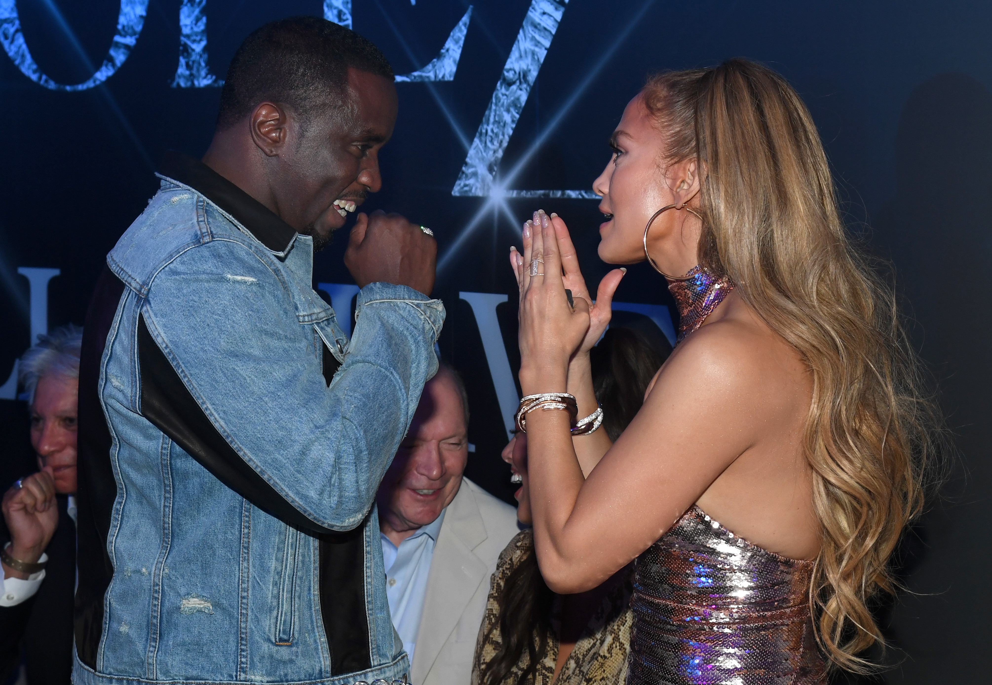 """Sean """"Diddy"""" Combs and Jennifer Lopez share a moment at the afterparty at Mr. Chow at Caesars Palace celebrating the finale of her """"Jennifer Lopez: All I Have"""" residency at the Zappos Theater at Planet Hollywood in Las Vegas on Sept. 29, 2018."""