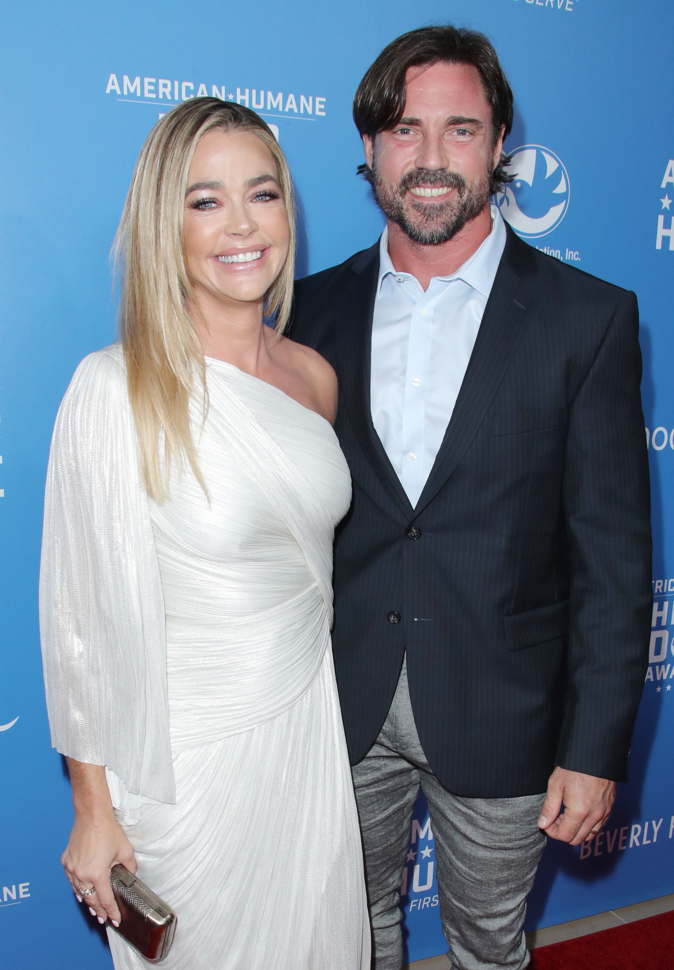 Denise Richards and husband Aaron Phypers attend the American Humane Dog Awards in Los Angeles on Sept. 29, 2018.