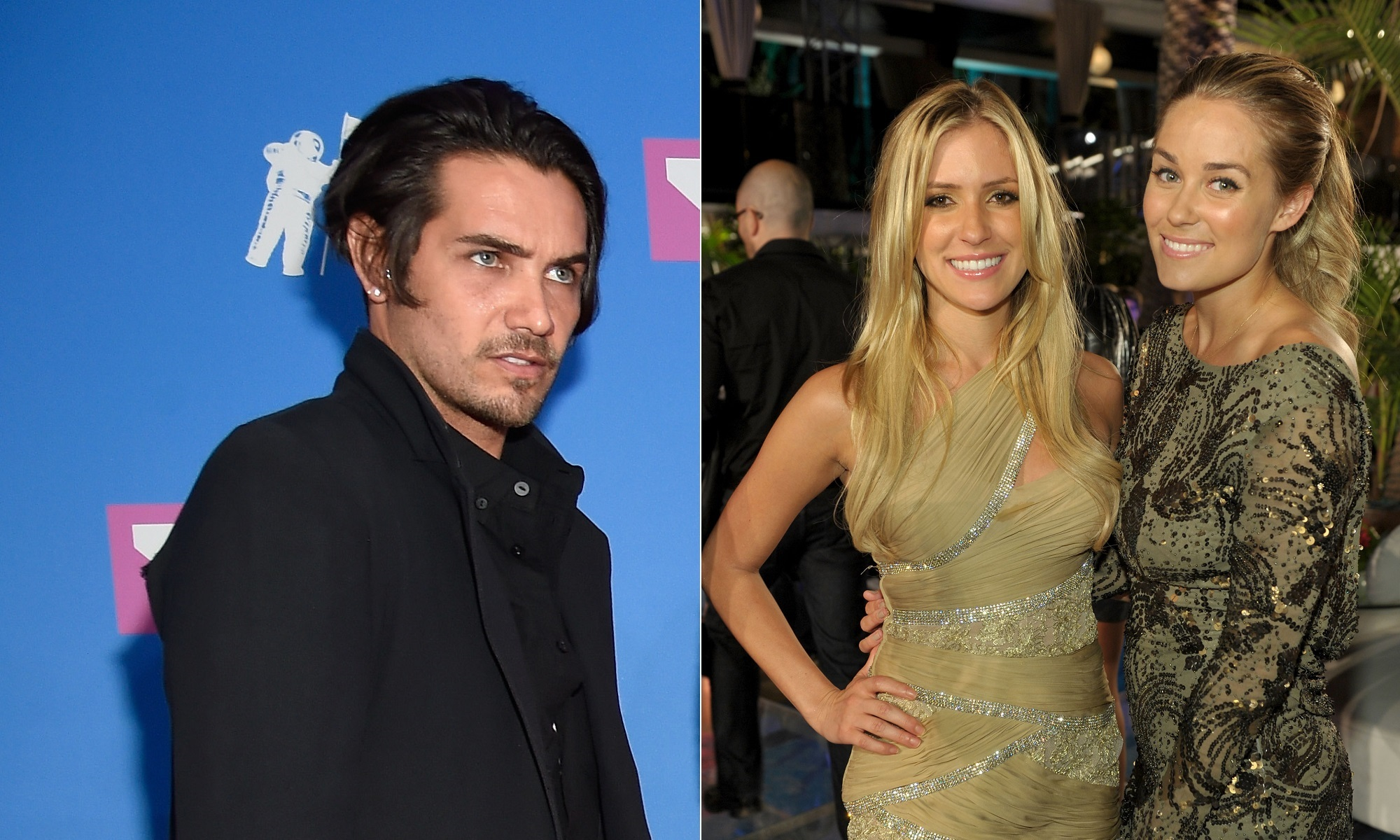 "In this composite pic, Justin Bobby Brescia, left, attends the 2018 MTV Video Music Awards at Radio City Music Hall in New York City on Aug. 20, 2018 and Kristin Cavallari and Lauren Conrad, right, attend MTV's ""The Hills Live: A Hollywood Ending"" finale event at The Hollywood Roosevelt Hotel on July 13, 2010."