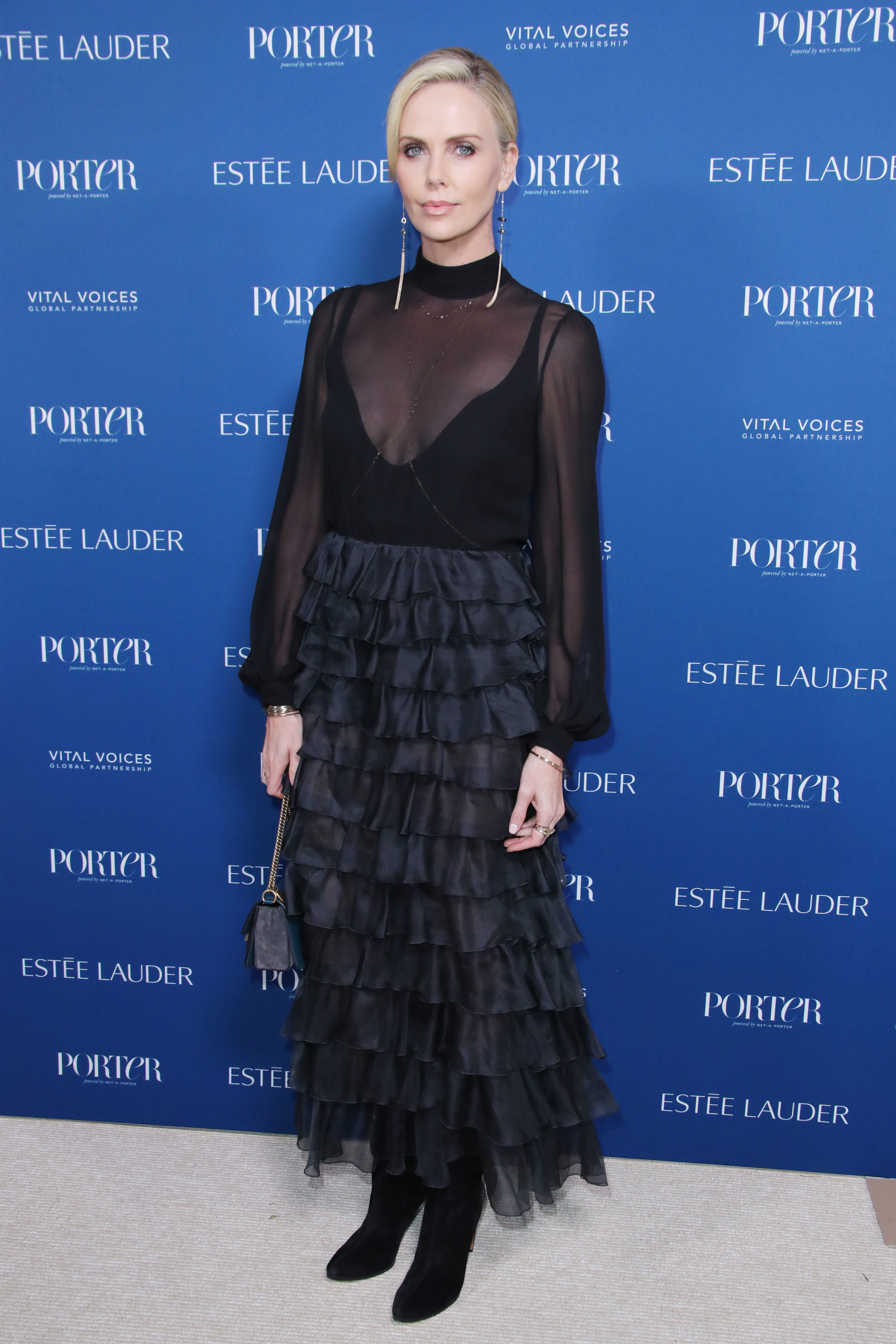 Charlize Theron attends the Porter's 3rd Annual Incredible Women Gala in Los Angeles on Oct. 9, 2018.