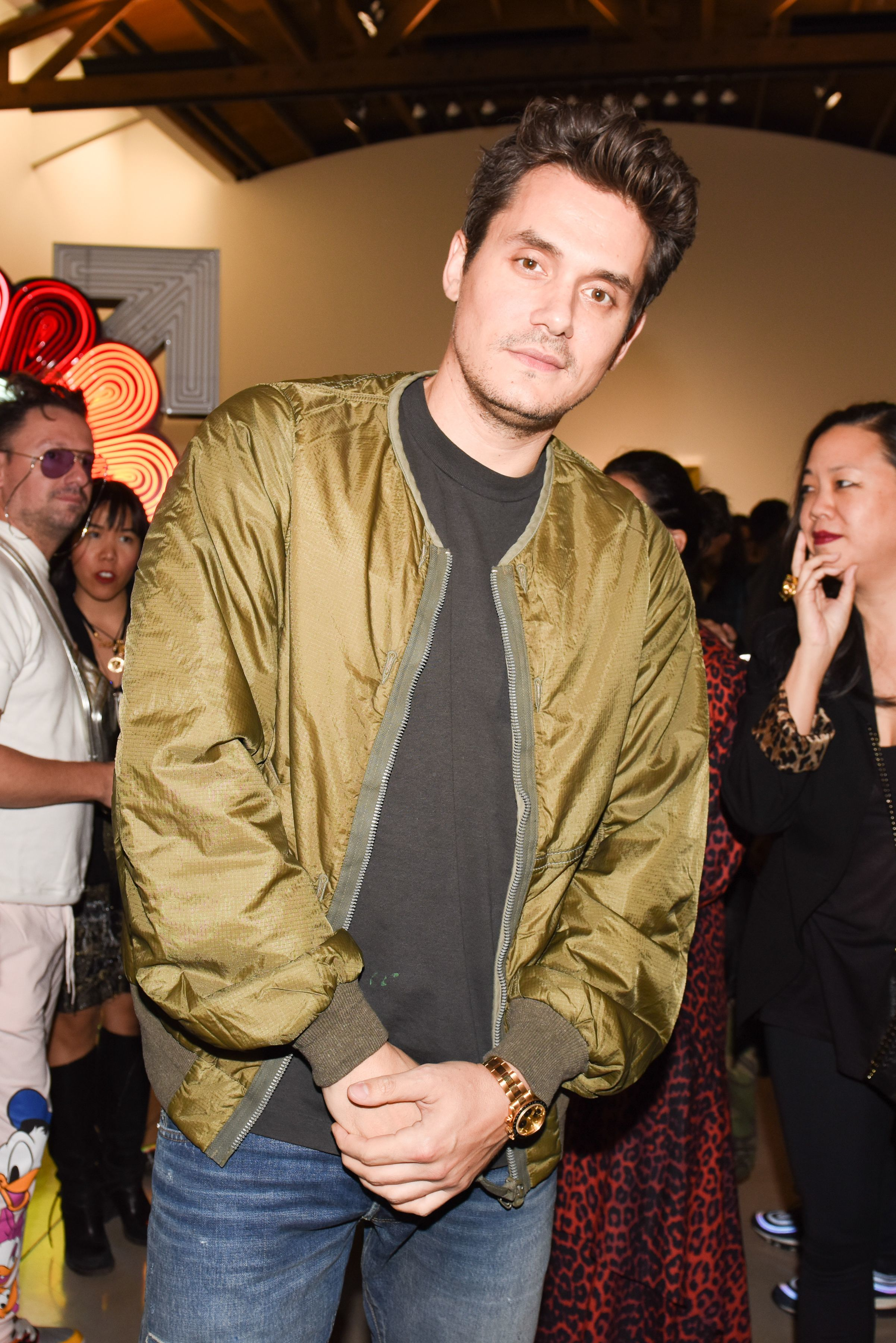 John Mayer attends the Murakami & Abloh America Too at Gagosian Beverly Hills in Los Angeles on Oct. 10, 2018.